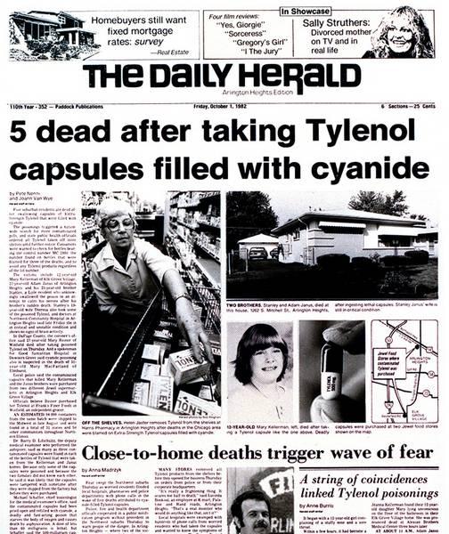 tylenol recall 1982 press release