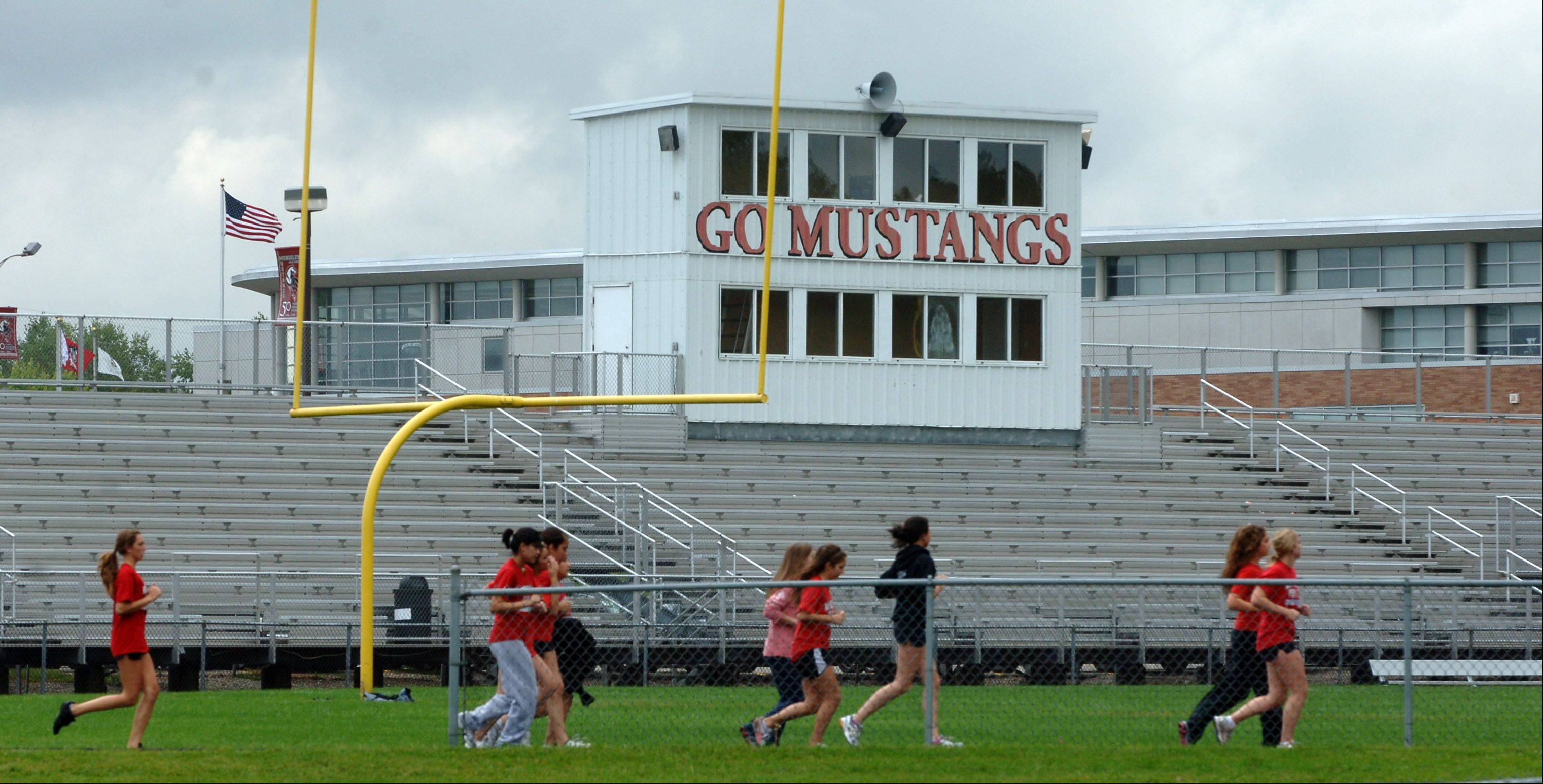 The Mundelein High School District 120 board will choose a manufacturer for an artificial turf football field tonight. The work — along with the construction of a new running track around the field — is expected to cost $1.9 million.