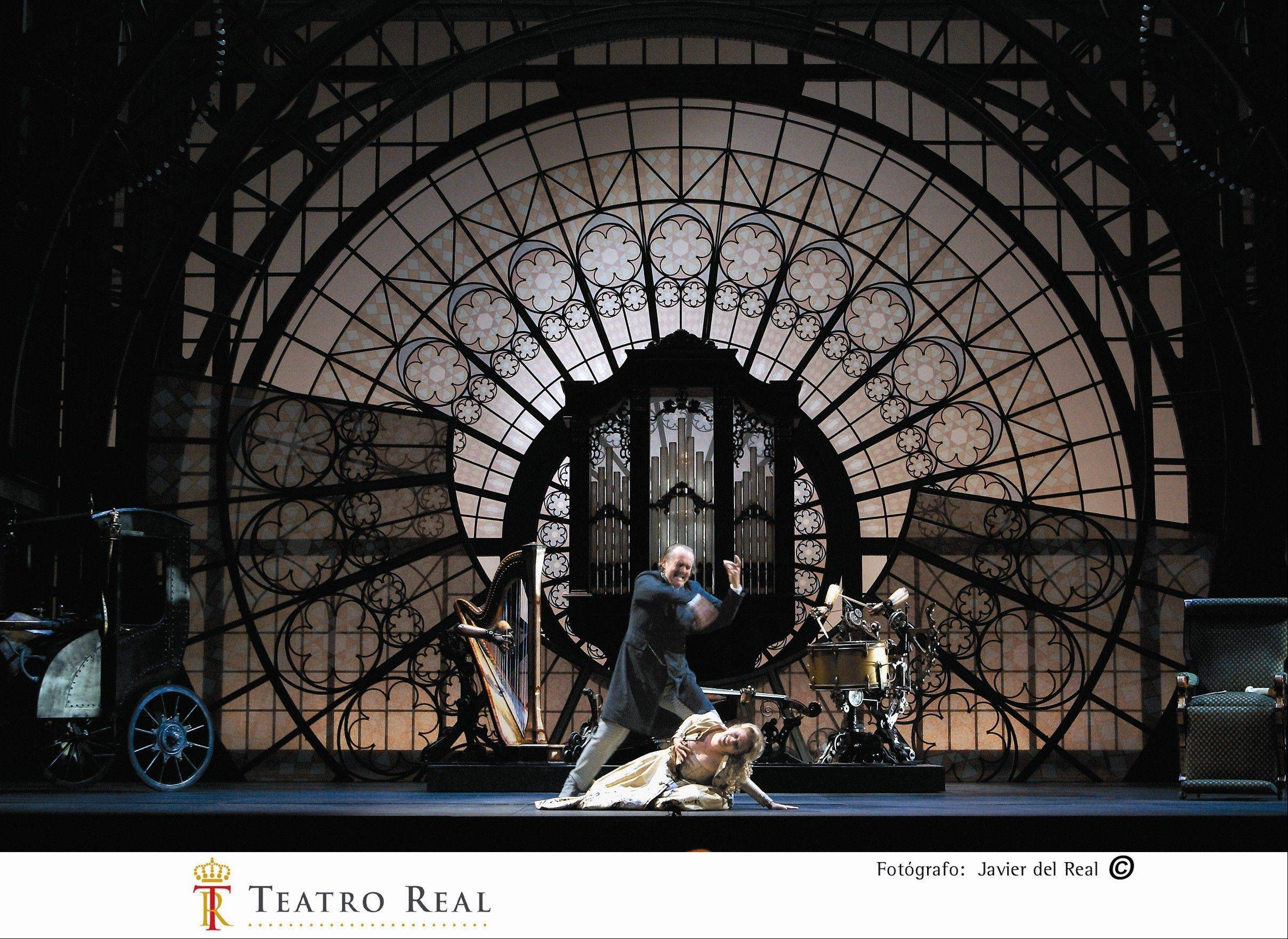 "The Lyric Opera of Chicago opens its 2011-12 season with Jacques Offenbach's grand French opera ""The Tales of Hoffmann"" in Nicholas Joel's 19th century train station-styled production."