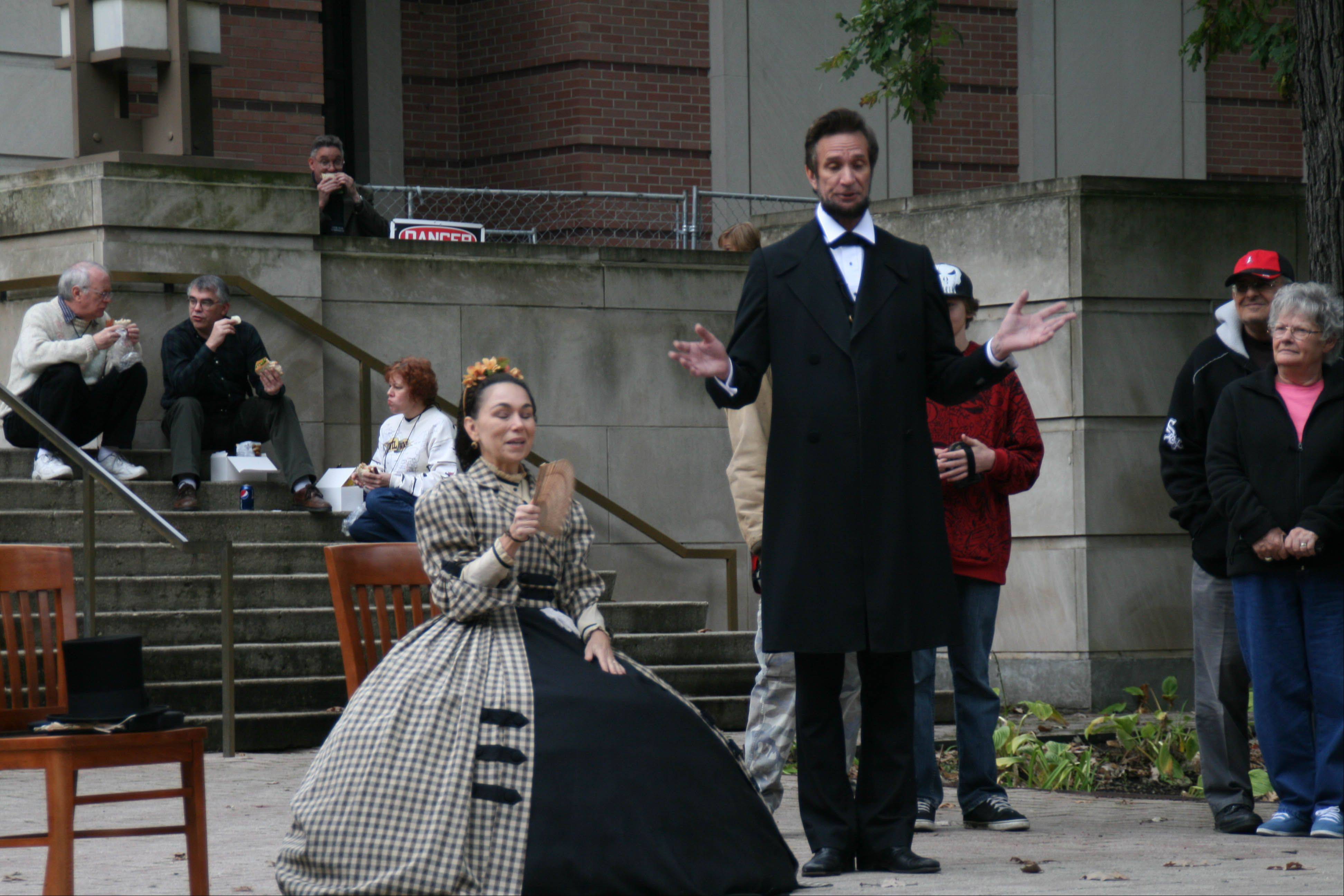 Two impersonators hold court at a past Civil War re-enactment at the First Division Museum. The event will take place this weekend during a Civil War Symposium at the museum in Wheaton.