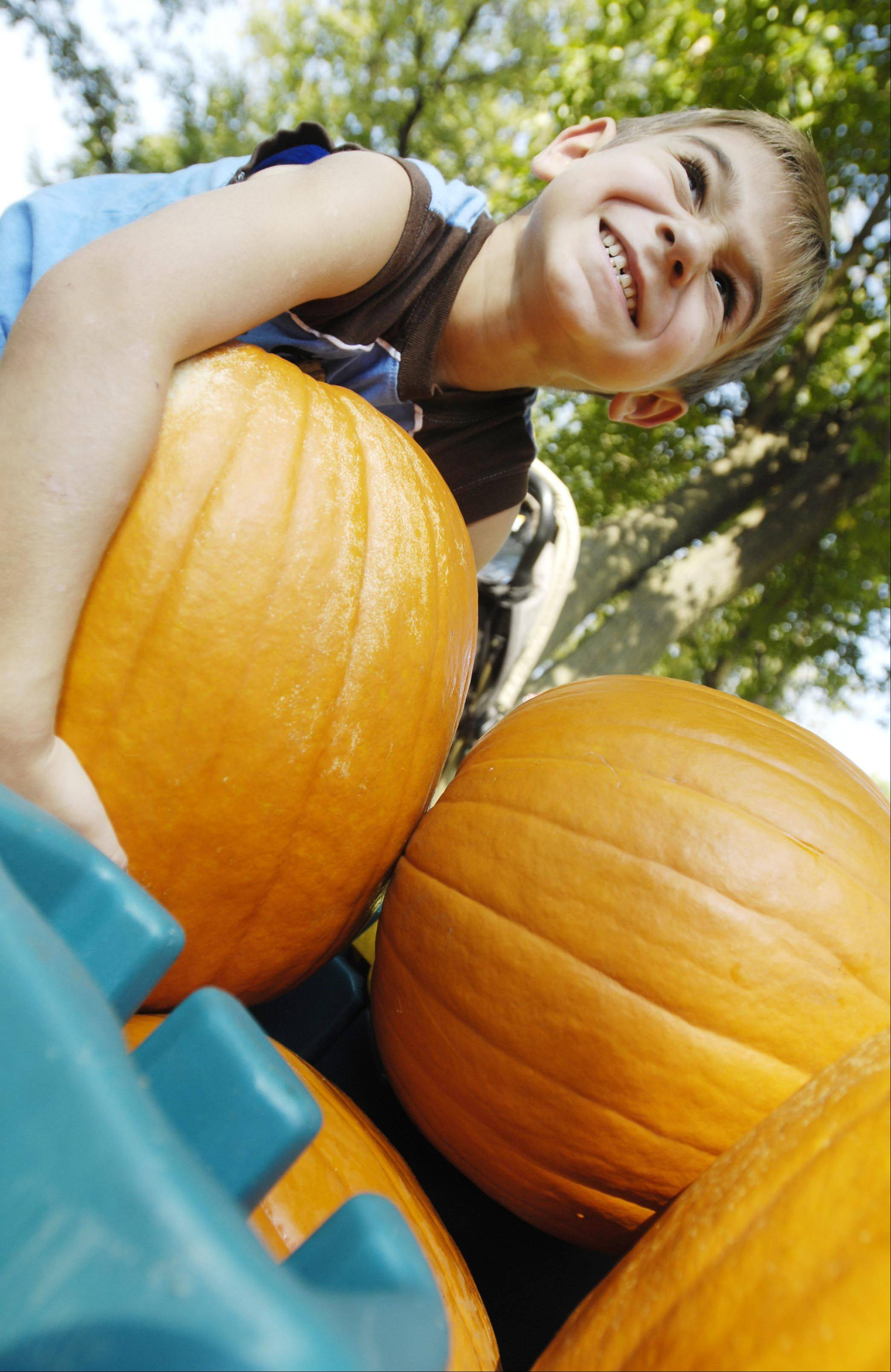 Children 11 and younger will get unlimited kiddie rides and a free pumpkin while supplies last with admission to Heritage Day on Saturday in Bensenville.