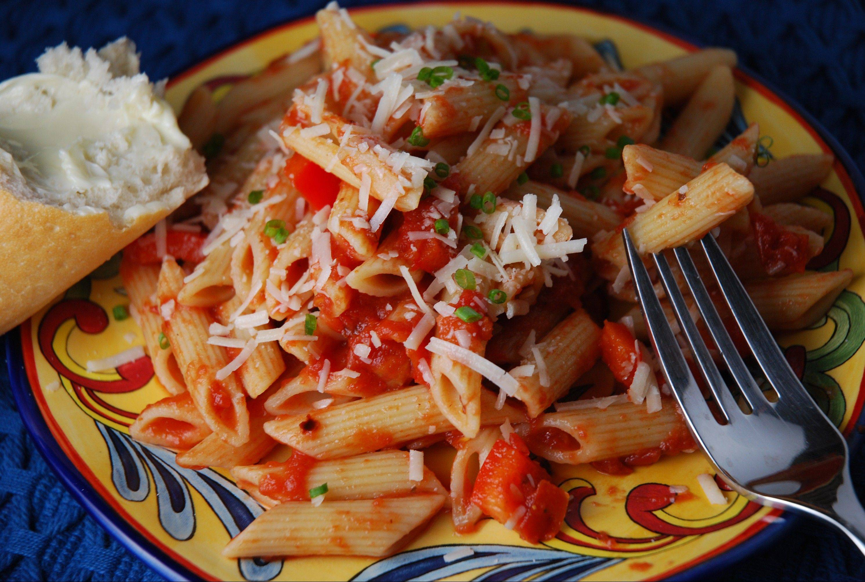Classic Italian Pasta sauce comes together in a mere 20 minutes. The recipe makes enough for dinner tonight with plenty leftover.