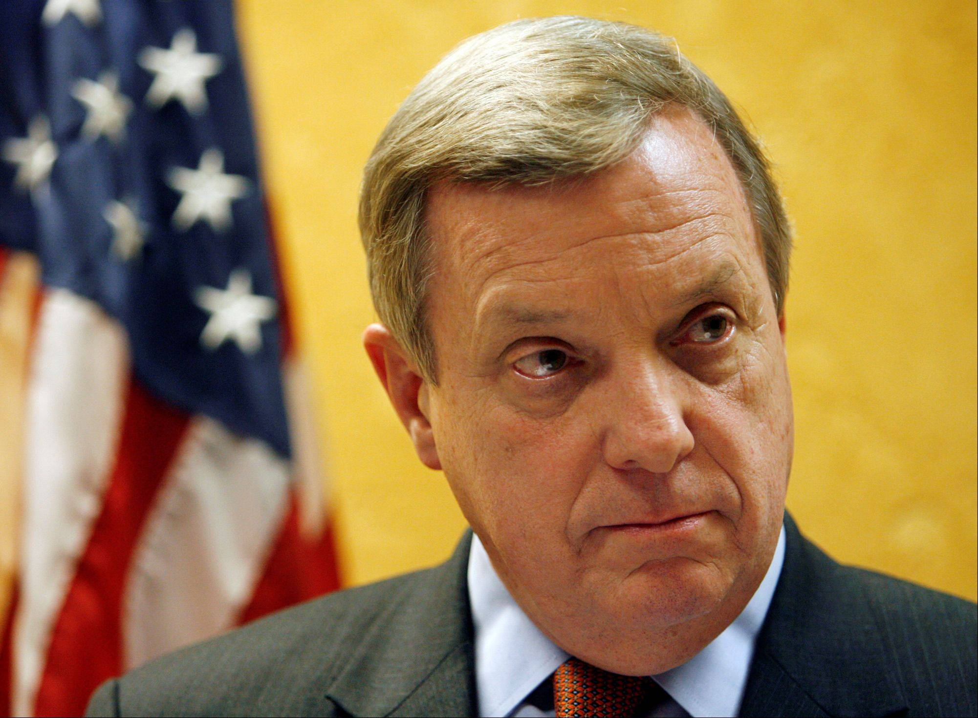 U.S. Sen. Dick Durbin, seen here in 2009, stopped in Aurora yesterday to tout President Obama's jobs plan. Durbin said Congress must get people back to work before tackling the budget deficit.