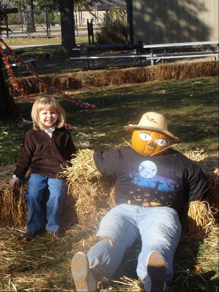 Chloe Walker, now 4, and her mom, Lisa, had so much fun designing a scarecrow during last year's Pumpkin Weekends at Blackberry Farm in Aurora the duo already is thinking about the creation they'll make this month during the festivities.