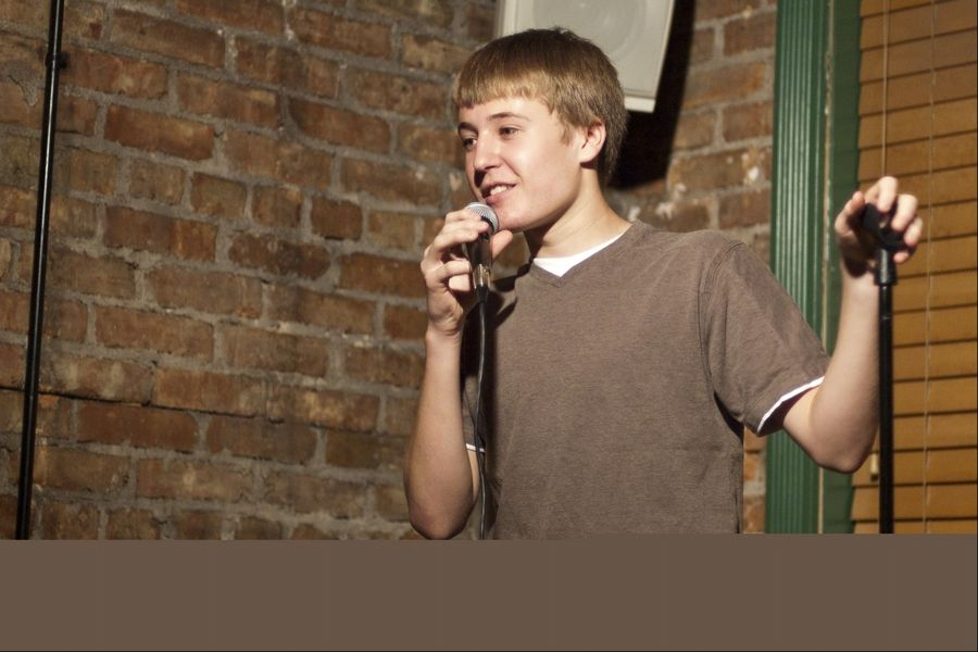 AJ Lubecker, 17, performed standup for about a year and a half at Duke's Alehouse and Restaurant in Crystal Lake.