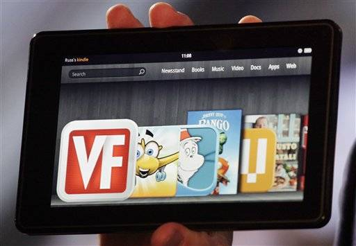Amazon's unveiling of the Kindle Fire tablet computer sends a bright-hot message: The online retailer is ready to rival iPad maker Apple in an effort to be the world's top digital content provider.