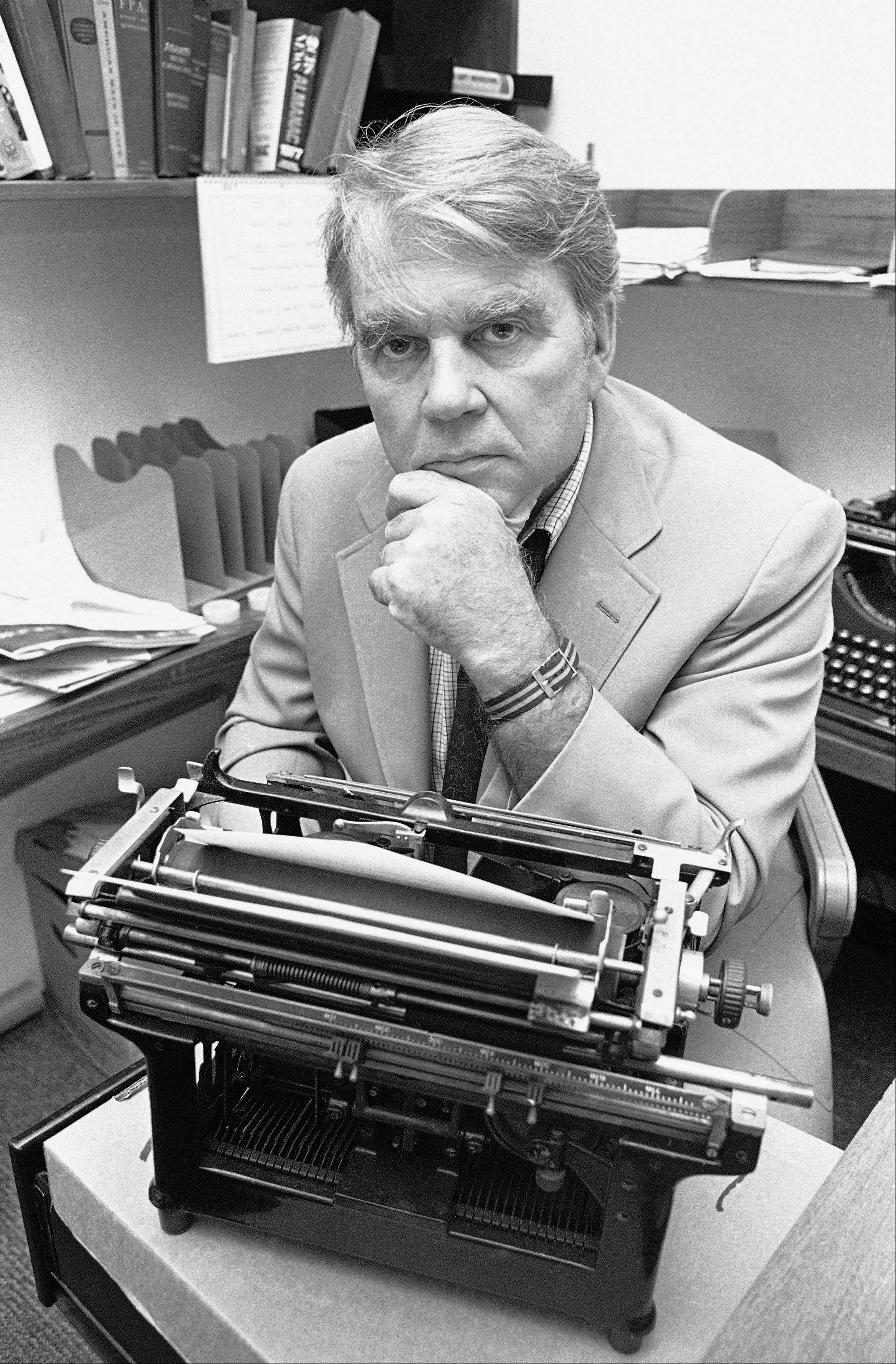 "Andy Rooney, shown here in his New York office in 1978, which was the year he started his weekly commentaries on CBS' ""60 Minutes,"" will make his final commentary on Sunday's broadcast. CBS says it will be his 1097th for the program."