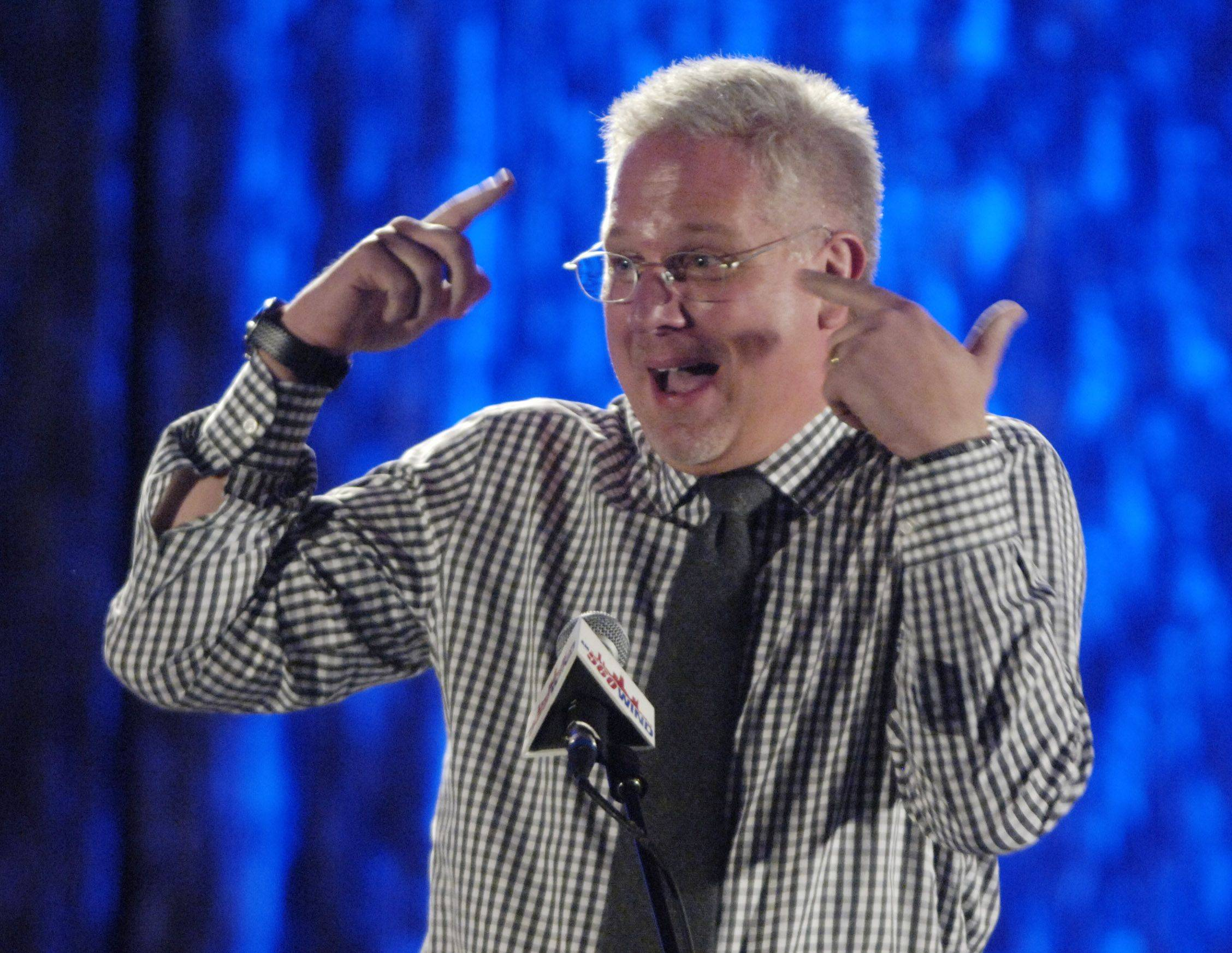 Glenn Beck speaks during dinner at TeaCon 2011, the tea party convention in Schaumburg Saturday.