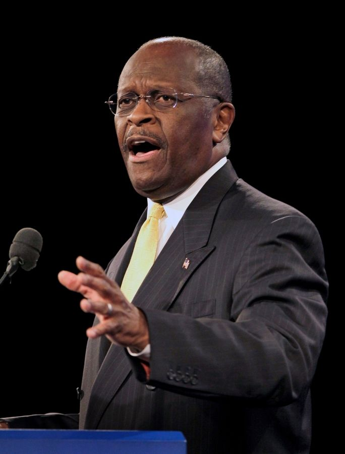 Republican presidential candidate Herman Cain speaks Sept. 24 in Florida.