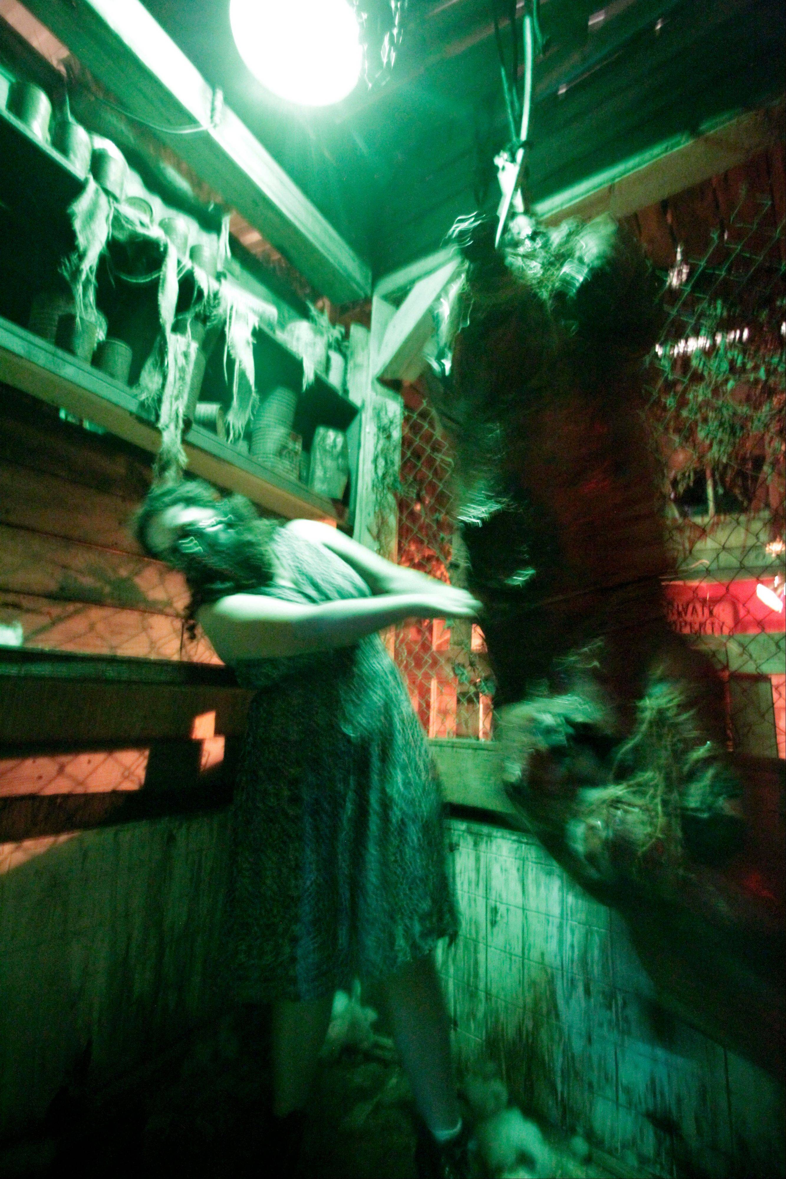 A scary scene is one of the many gruesome attractions that are part of the House of Shock in New Orleans.