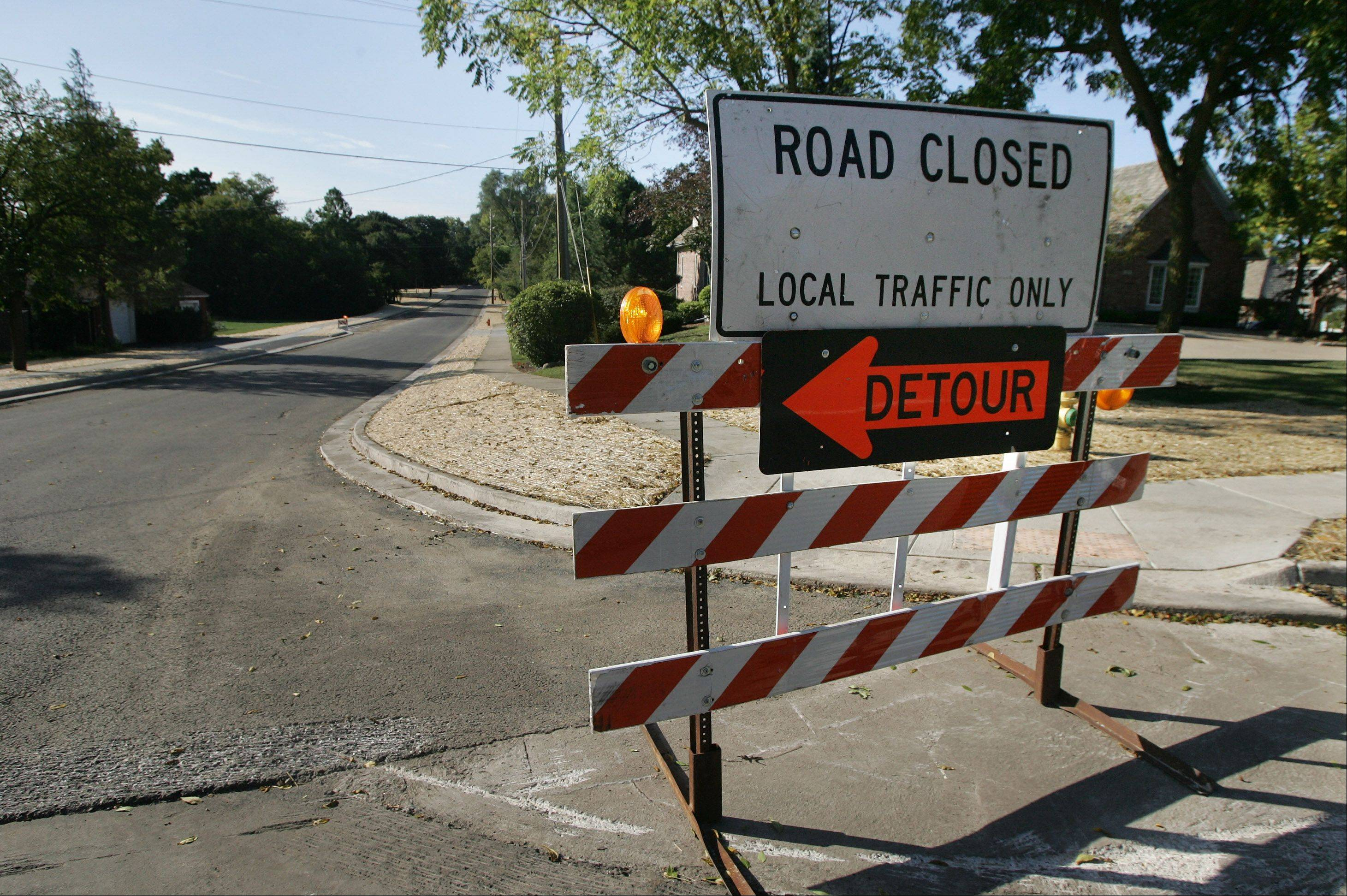 Most of Libertyville's budget for street repairs this year involved a single project -- the reconstruction of about a half-mile of Dymond Road between Route 176 and Crane Boulevard.
