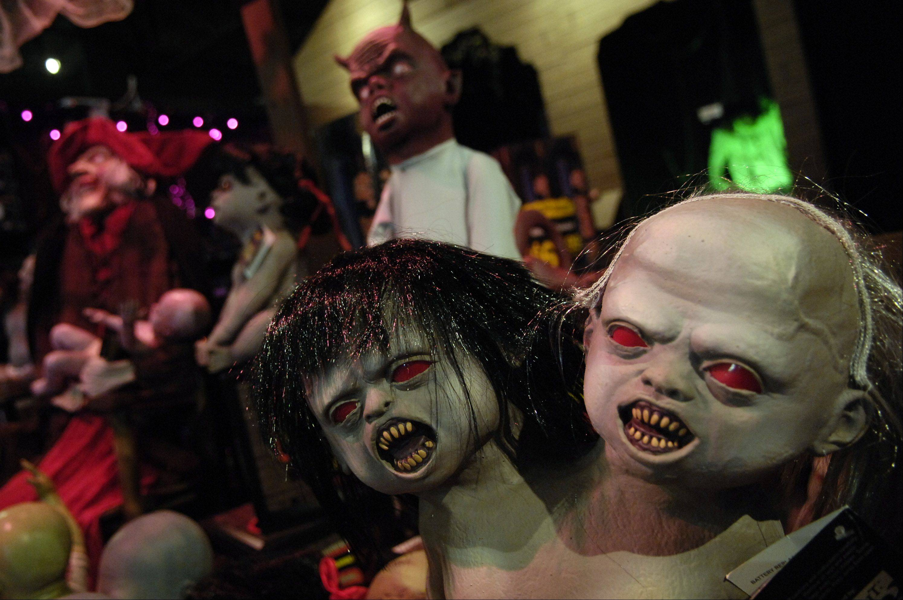 "Twin zombies inhabit the ""Zombie Nursery"" at Spirit Halloween. This year, the seasonal store has locations in Elgin and Lake in the Hills."