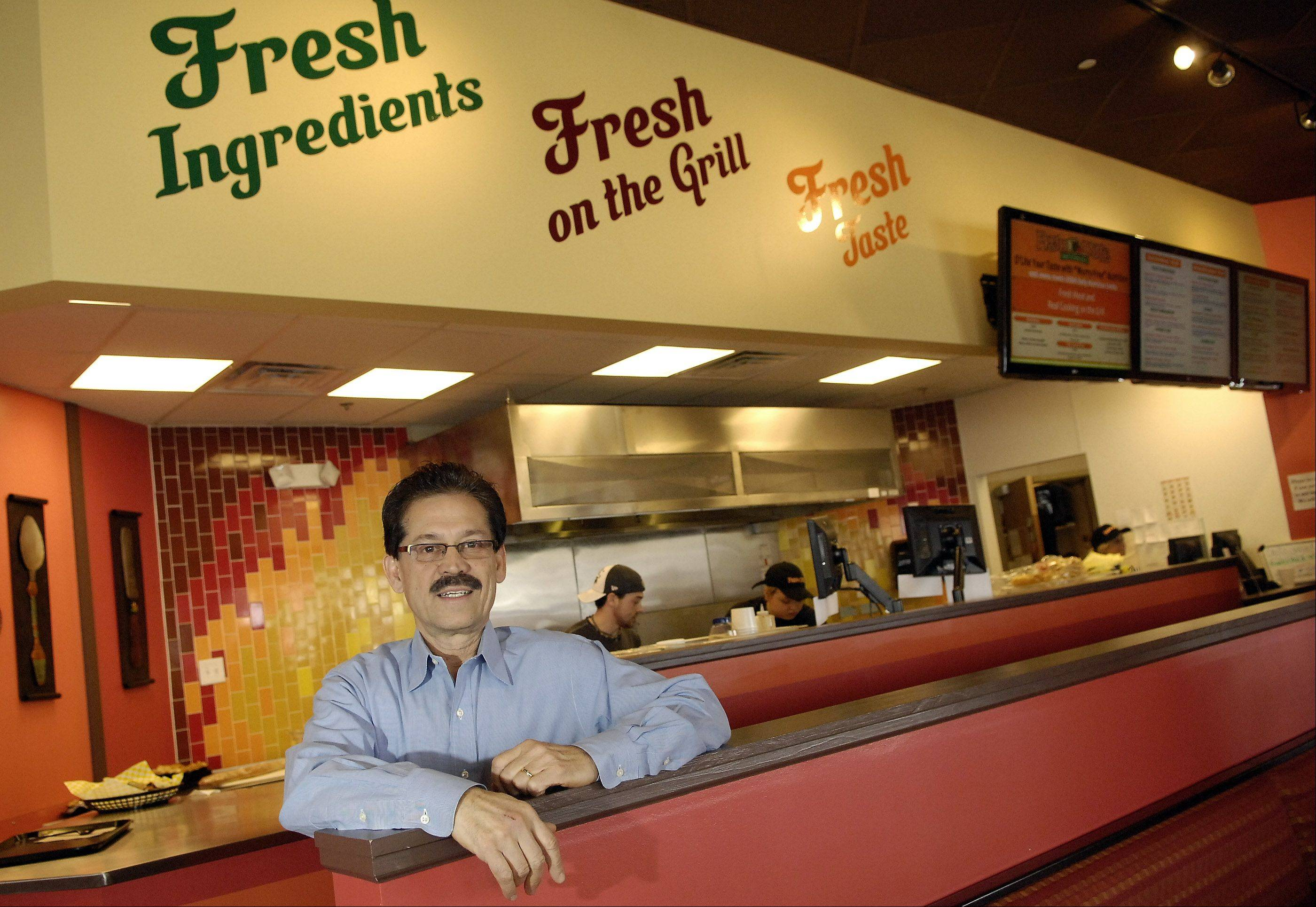 Paul Chaudury is owner of Fresh D'Lite restaurant in Geneva Commons. It is a newer family-owned restaurant serving healthy dishes.
