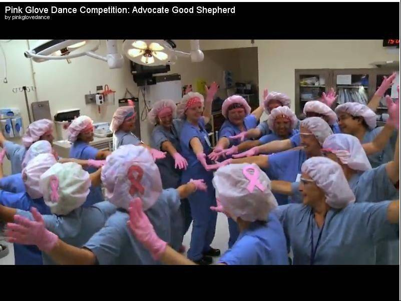 Health-care workers rock out in music videos in support of breast cancer awareness
