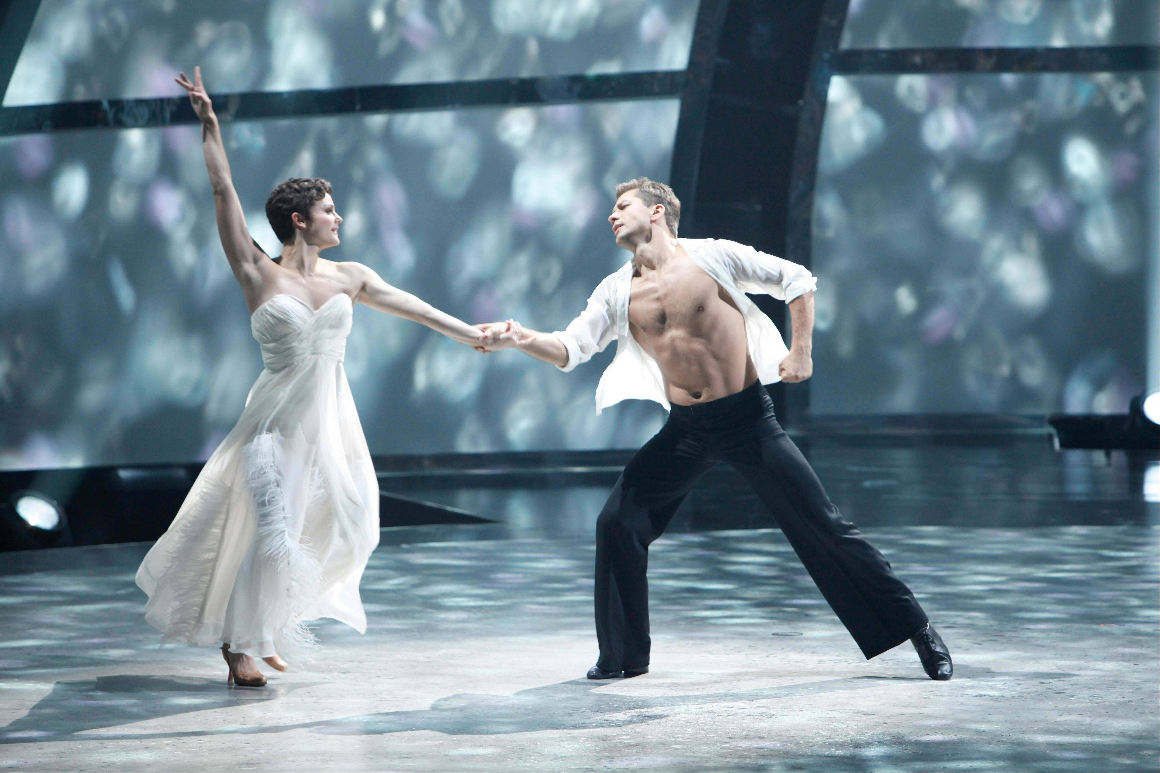 "See ""So You Think You Can Dance"" season 8 winner Melanie Moore and Pasha Kovalev, shown performing a Viennese Waltz on the show, during the national tour of the show, which stops at the Allstate Arena on Wednesday, Oct. 12."