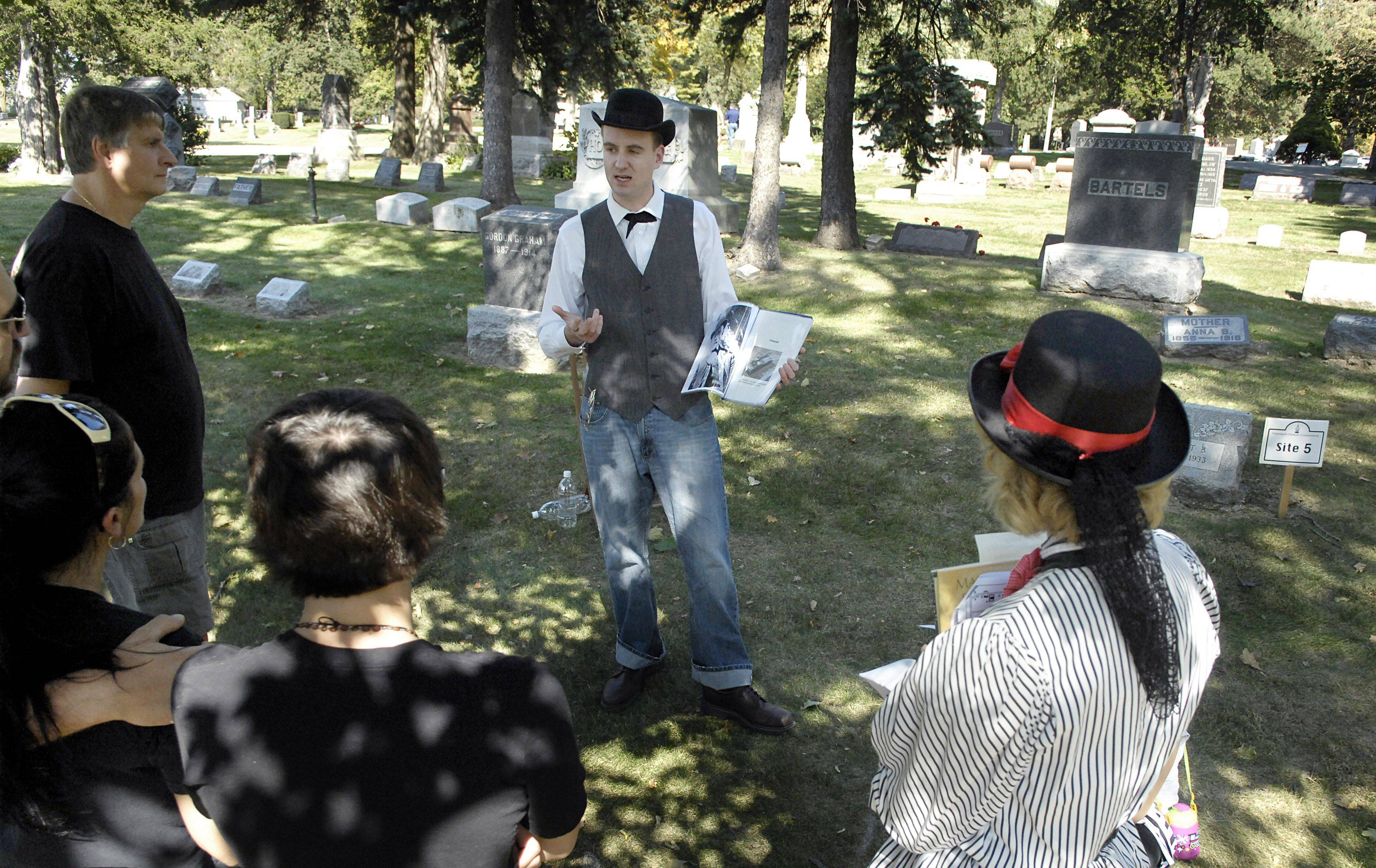 Ben Mason poses as Burnet B. Stewart during a previous cemetery walk held by the Algonquin Historic Commission. This year's cemetery walk, along with Old Time Country Harvest Day, is slated for Saturday, Oct. 8.