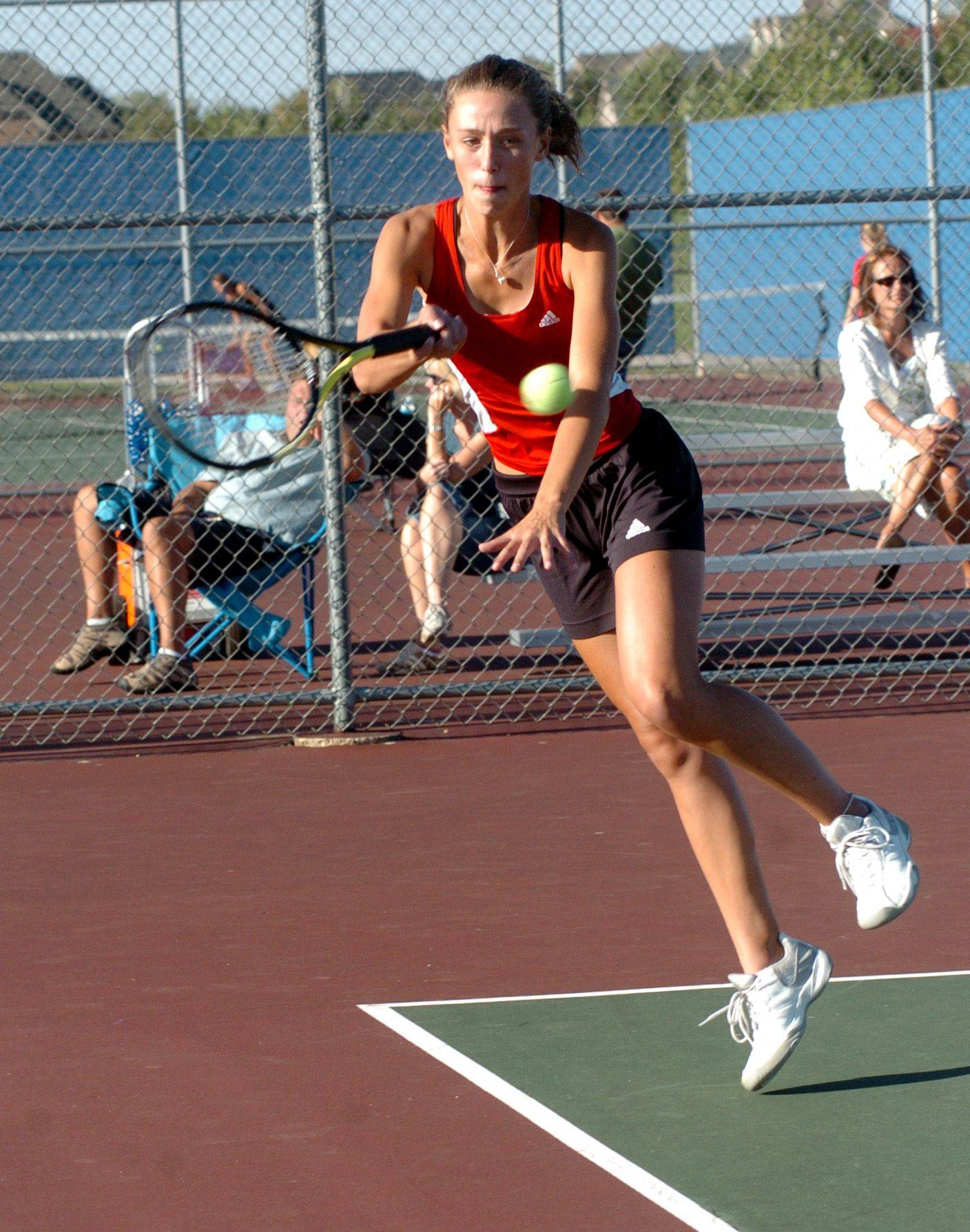 Kaitlin Mills is finishing her third season as part of the No. 1 doubles team at Batavia.