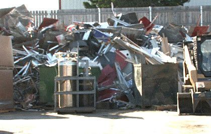 The yard at Elgin Recycling center in Gilberts is always filled with scrap metal.