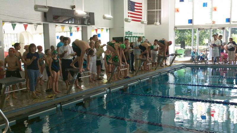 Members Of The Central Lake Ymca Turtles Swim Team Are Shown Here With First
