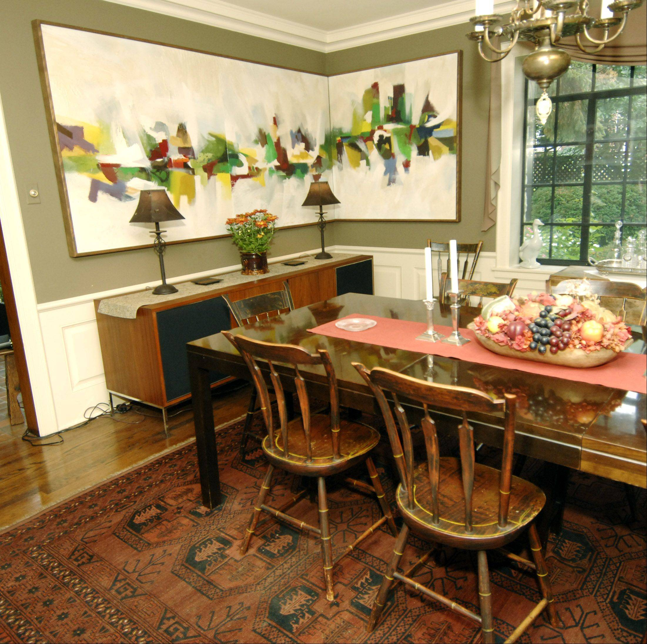 Early American Dining Room Furniture: LaGrange Couple Blends Early American And Modern Pieces To Create Own Style
