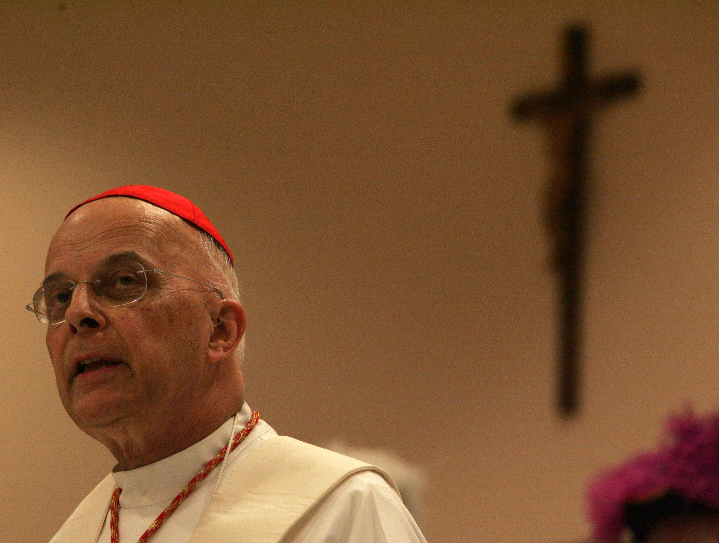 Cardinal George blesses Wheeling parish center