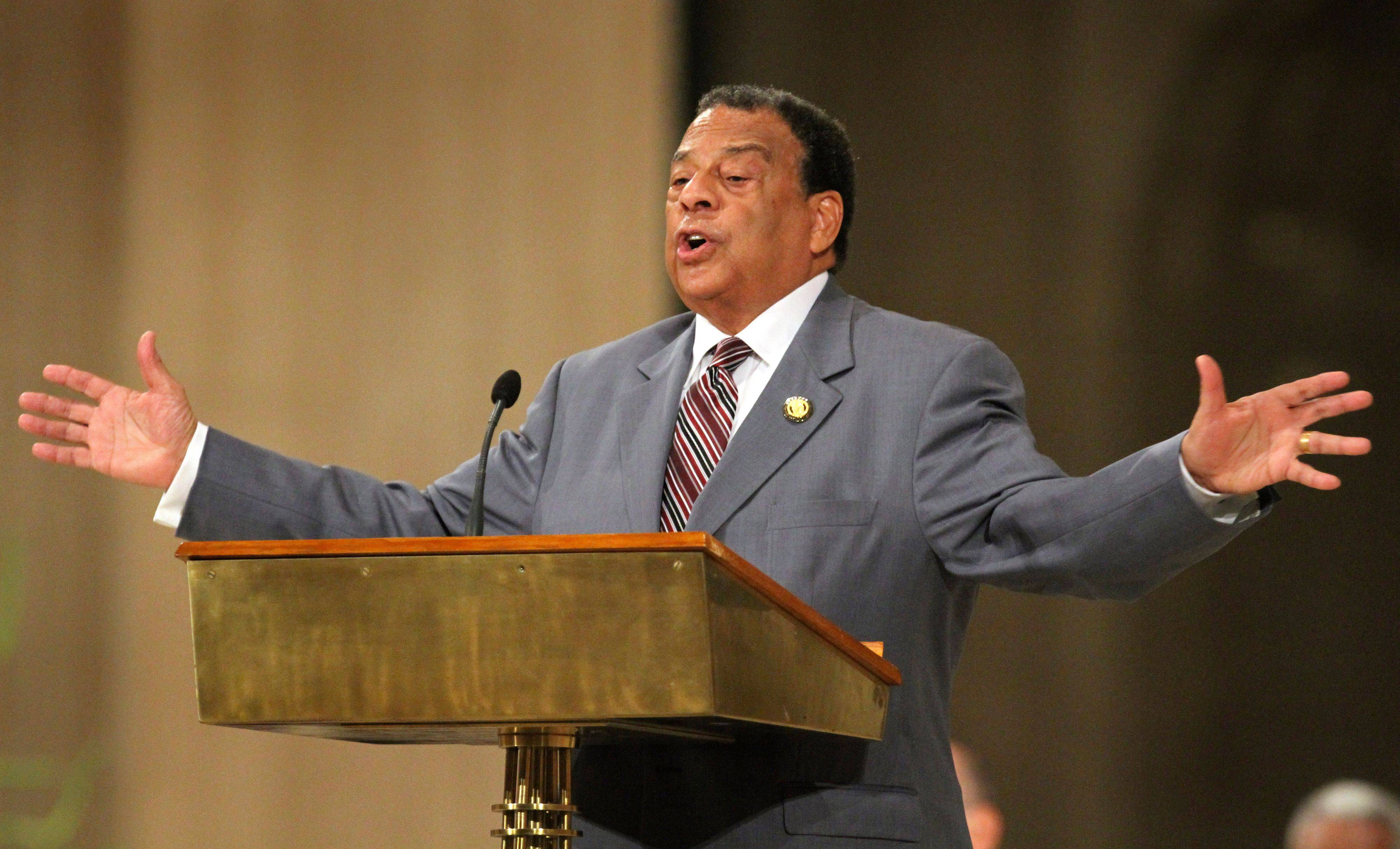 On Aug. 27, Andrew Young, former ambassador to the United Nations, pays tribute to the Rev. Dr. Martin Luther King Jr. during an interfaith prayer service in honor of King at the Basilica of the National Shrine of the Immaculate Conception in Washington. Veterans of past social movements, such as Young, say the Occupy Wall Street protest has been a welcome response to the abysmal economy and has the potential to galvanize wide support, but whether it will lead to lasting political change remains to be seen.