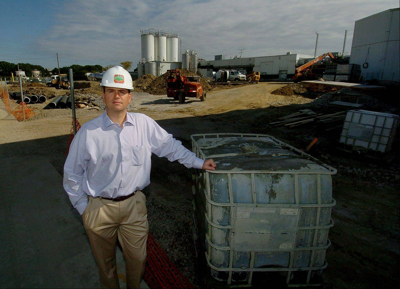 Kent Beernink standing alongside expansion of Gonnella in Schaumburg.