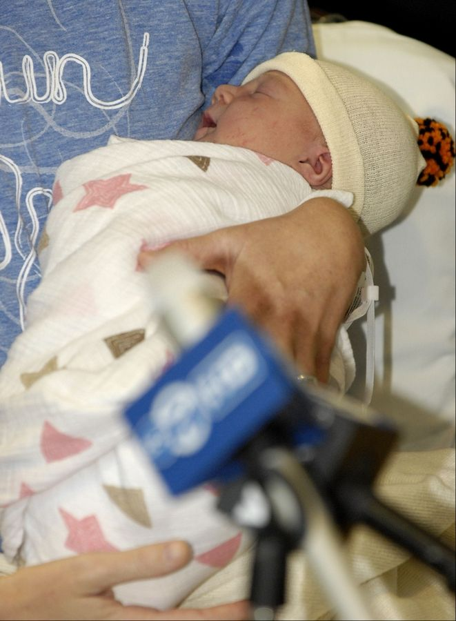 June Miller weighed in at a healthy 7 pounds and 13 ounces.