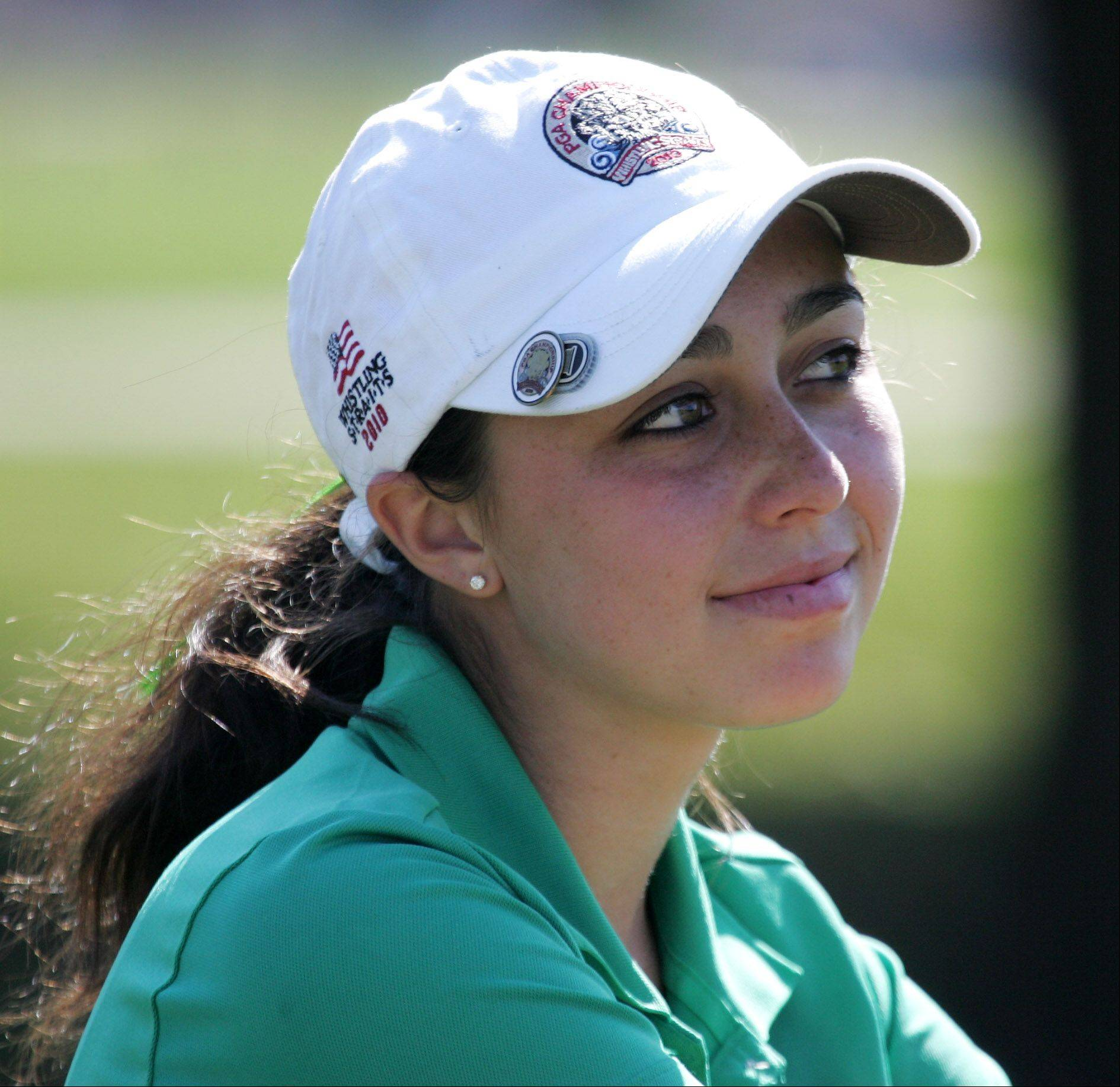 Stevenson golfer Stephanie Miller during the Class 2A high school girls golf sectional Monday at Buffalo Grove Golf Club.