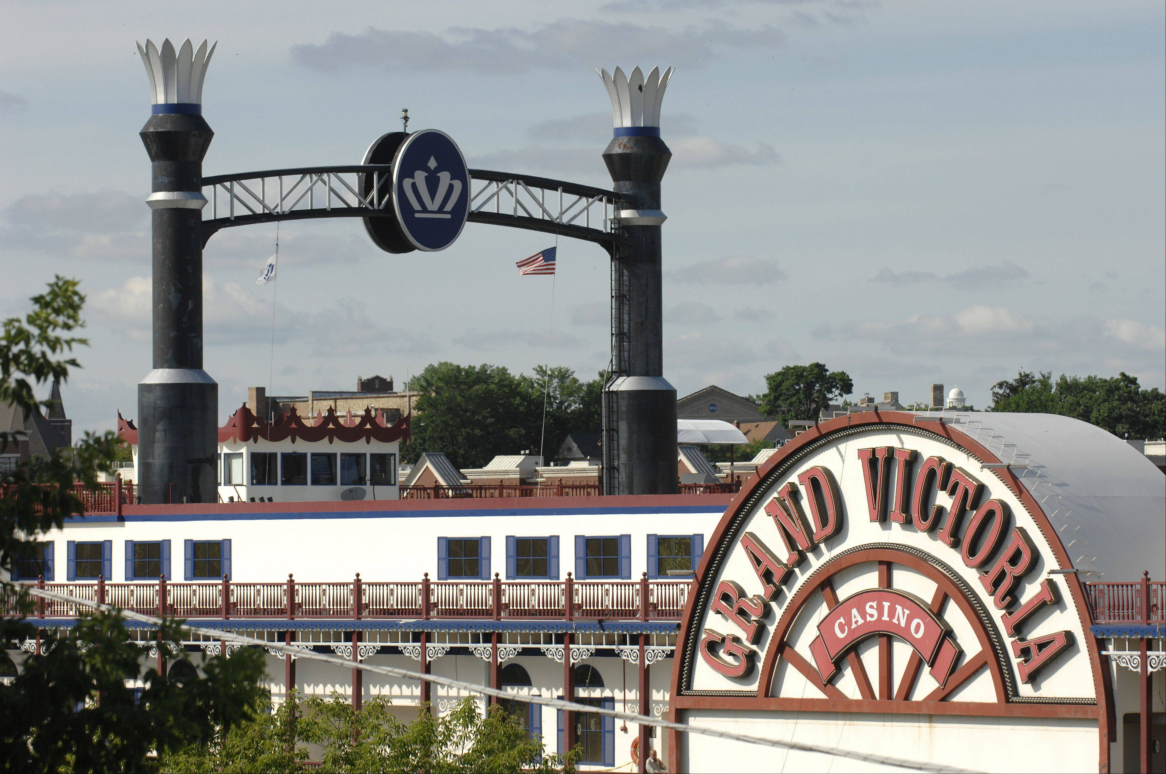 The Grand Victoria Casino in Elgin on the Fox River. Because profits at the casino are down, Kane County is getting less money for its riverboat fund. In turn, the county board is limiting the size of grants it makes, and cutting local governments off the list.