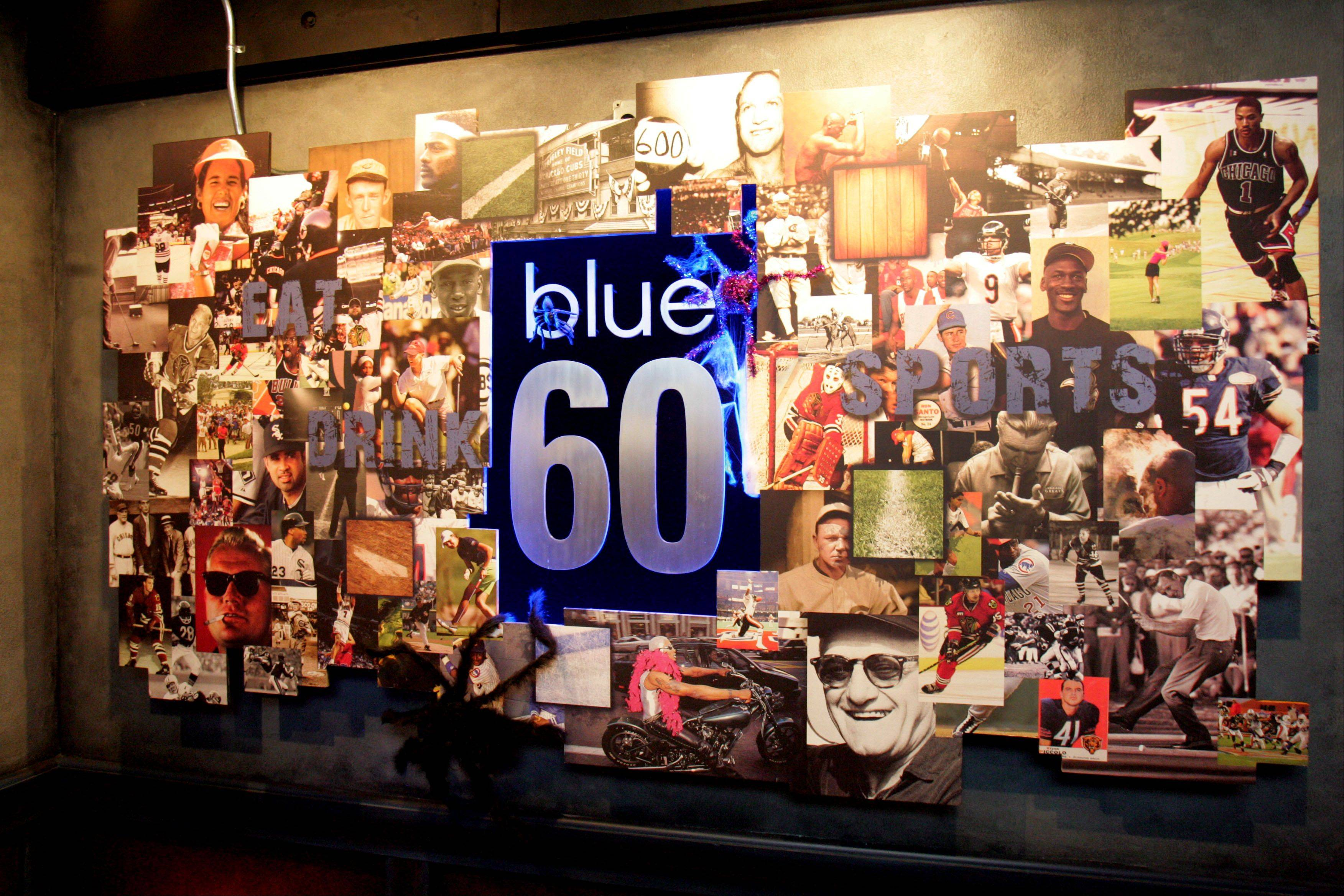 Blue 60 pays tribute to historic sports moments and athletes.