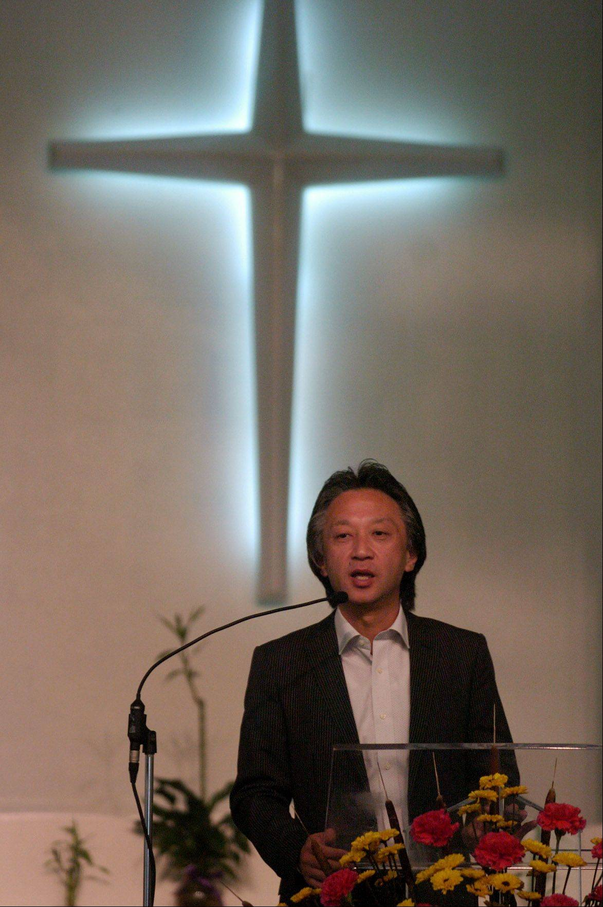 The Rev. Akira Sato, a minister whose congregation is trying to rebuild after losing their homes and church to the Japan nuclear power plant meltdown caused by the earthquake and tsunami, visits the Japanese Mission Baptist Church in Schaumburg.