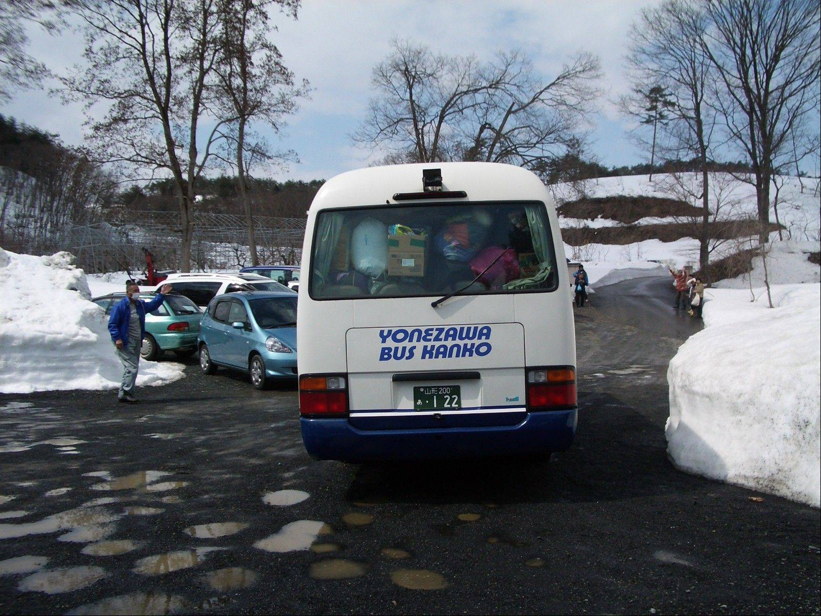 When 70 people evacuated their homes, the journey in March led through the snowy mountains.