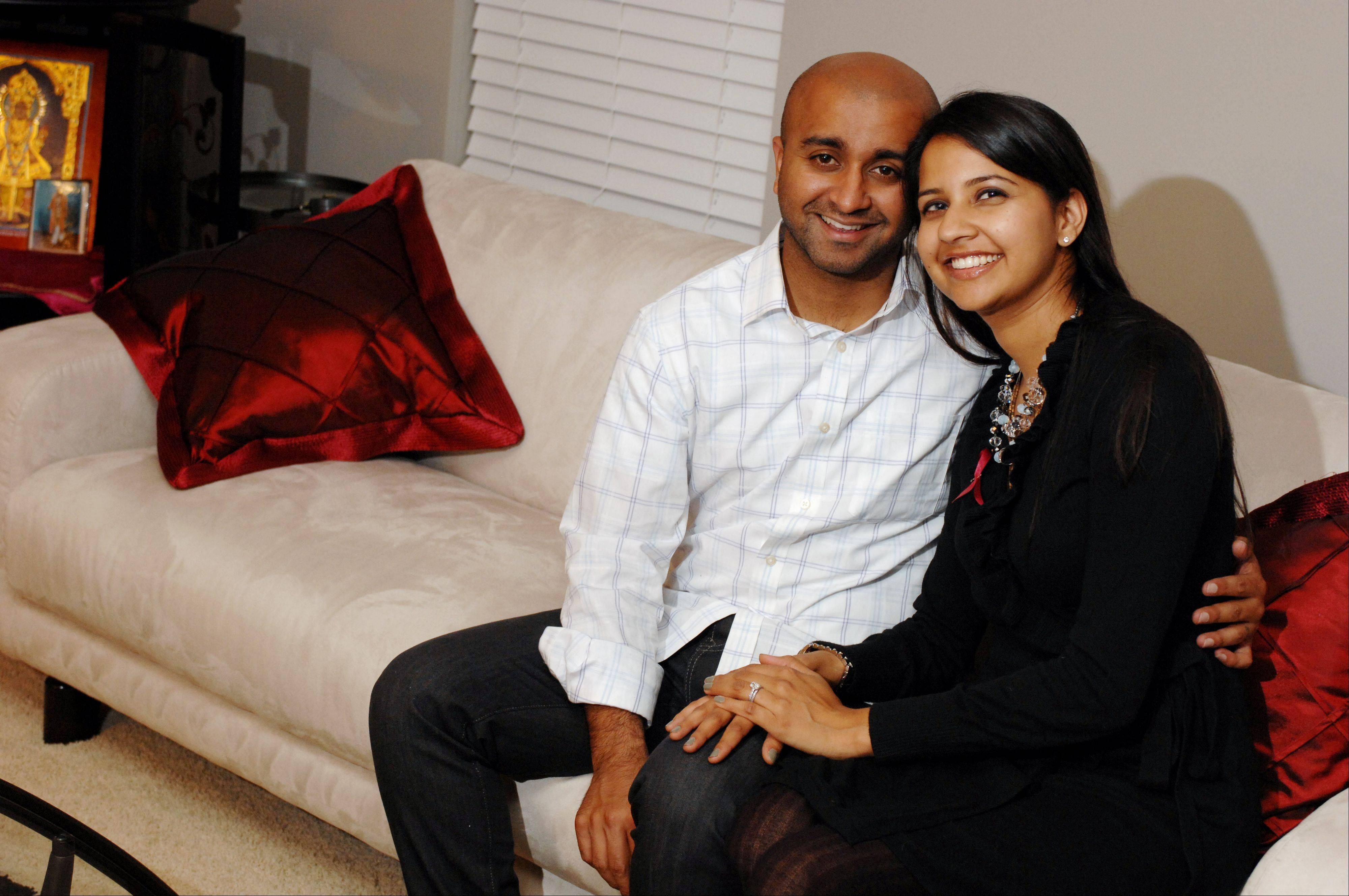 "Luv Desai and his wife Roopa Desai of Carol Stream, who faced two life-threatening ailments in 2009 just days before their wedding. Roopa said she wanted to marry the ""man of her dreams"" despite being scheduled for surgery on a brain aneurysm."