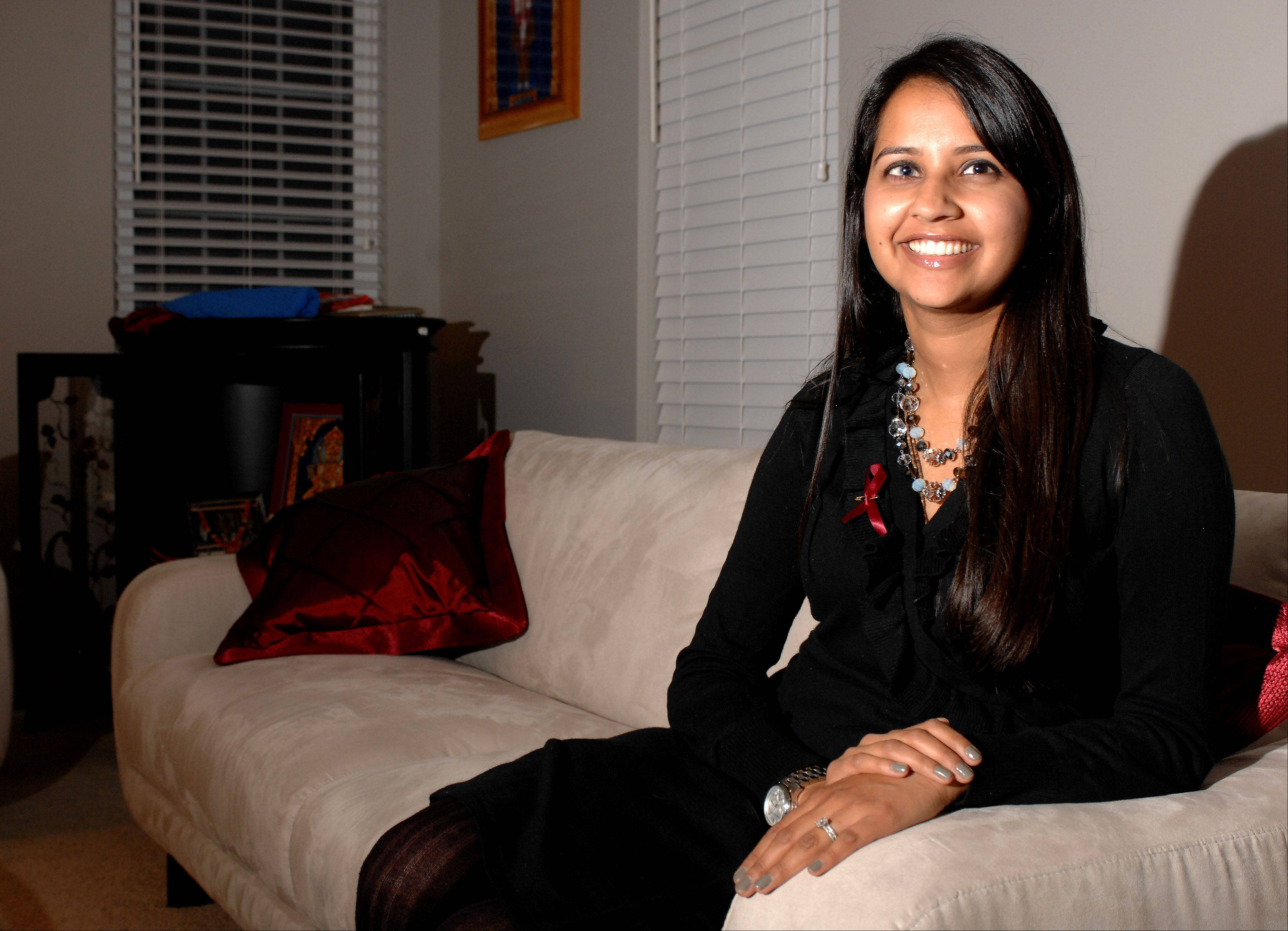 Roopa Desai, 28, of Carol Stream faced two life threatening ailments in 2009 only days before her wedding. Desai was diagnosed with a brain aneurysm and a pulmonary embolism.