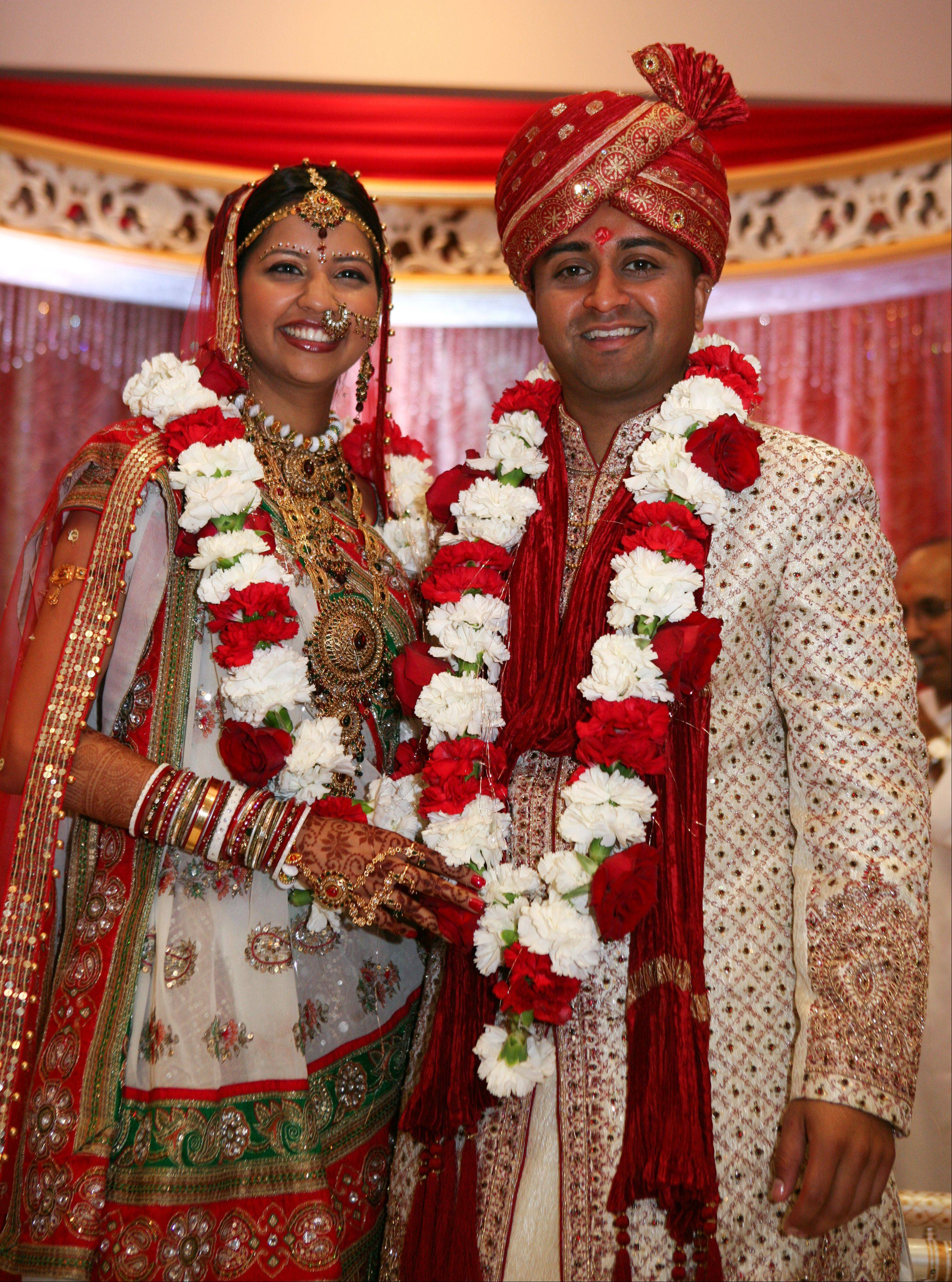 Roopa Desai and her husband, Luv, after their wedding Aug. 8, 2009.