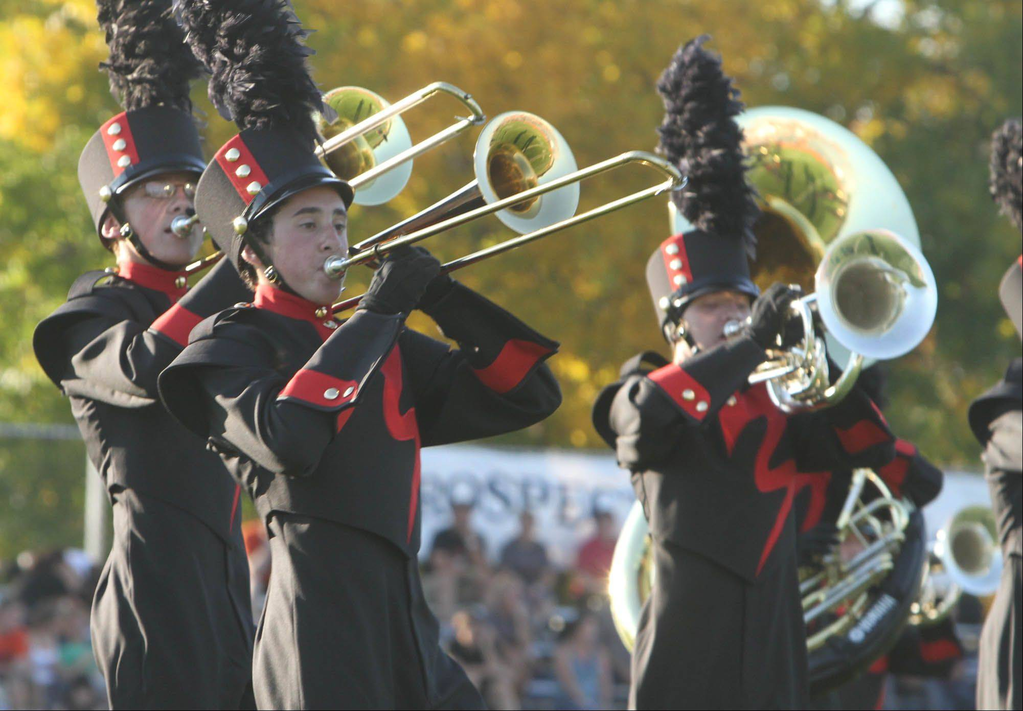 The Marching Bulldogs finished fifth overall -- out of 26 bands competing -- at the Knight of Champions marching band competition at Prospect High School.