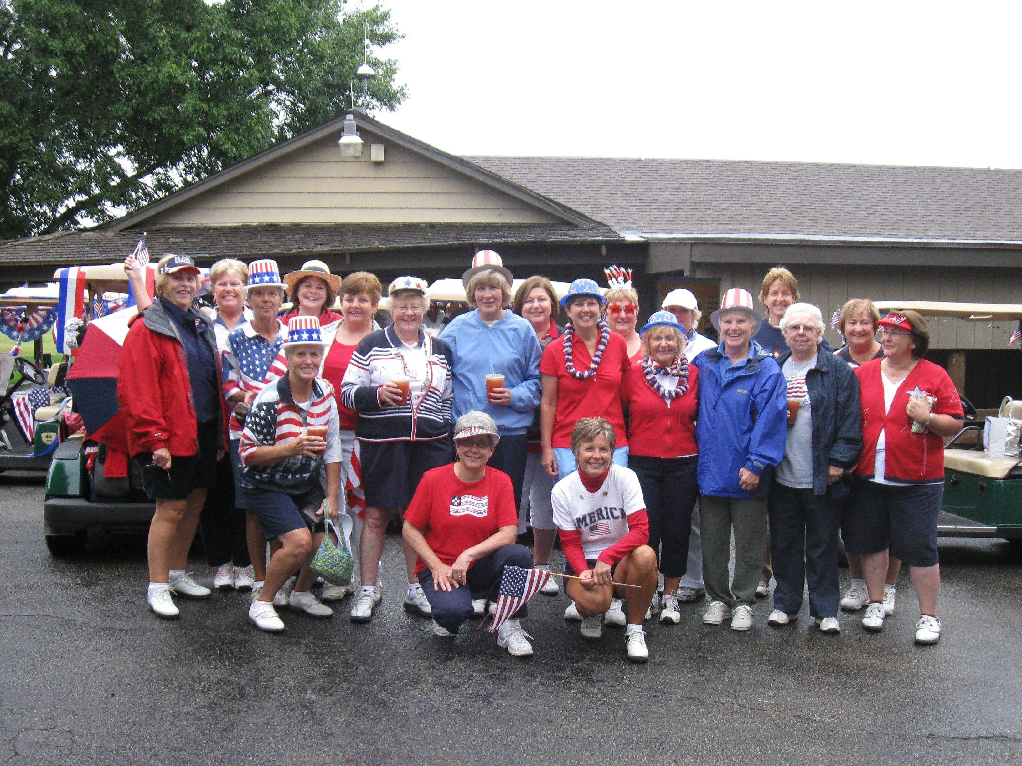 Elgin Golferettes celebrate at the end of the 2010 season. The women held a 60th anniversary celebration in September.