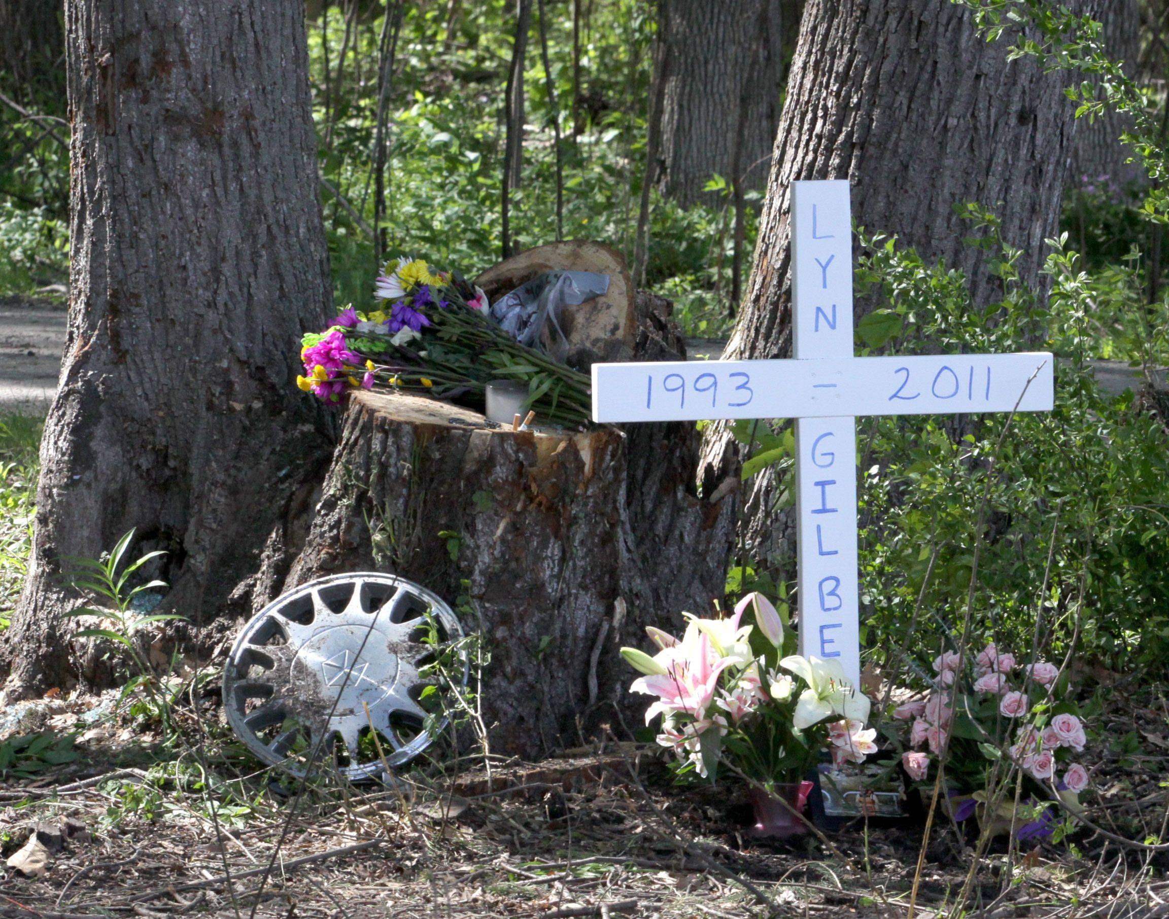 A memorial was placed at the scene soon after a May 16 car accident in Elburn in which 17-year-old Lynlee Gilbert of Batavia died.