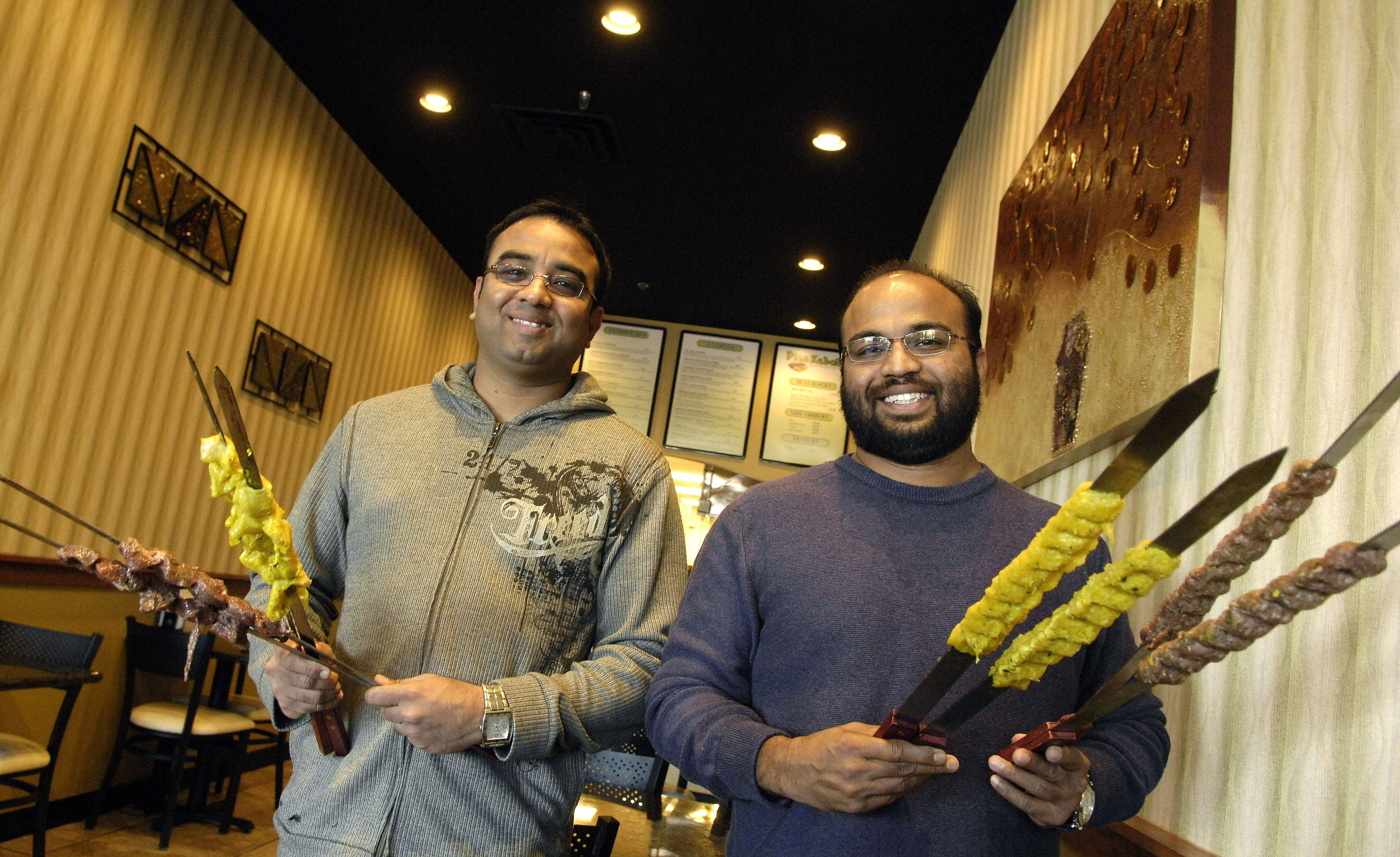 Faisal Rahman, left, and his brother Faz recently opened Pita Kabobs on Randall Road in Lake in the Hills.