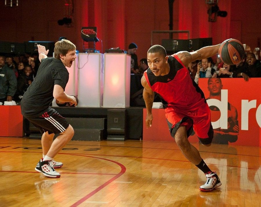 f4b86be96e62 Derrick Rose introduced his adiZero Rose 2 shoe to fans Saturday and even  hit the court
