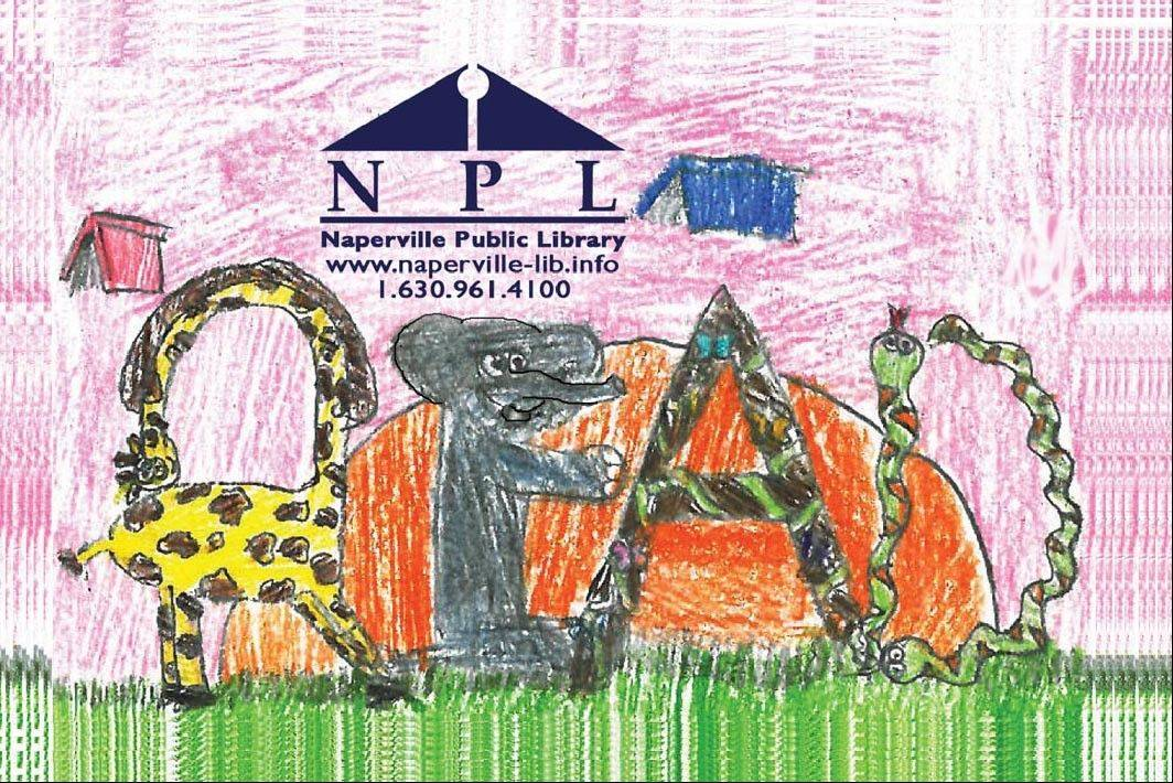 The Naperville Public Library begins issuing its first children's card Nov. 6. It was designed by Olivia Carlson, a fifth-grader at Brookdale Elementary School.
