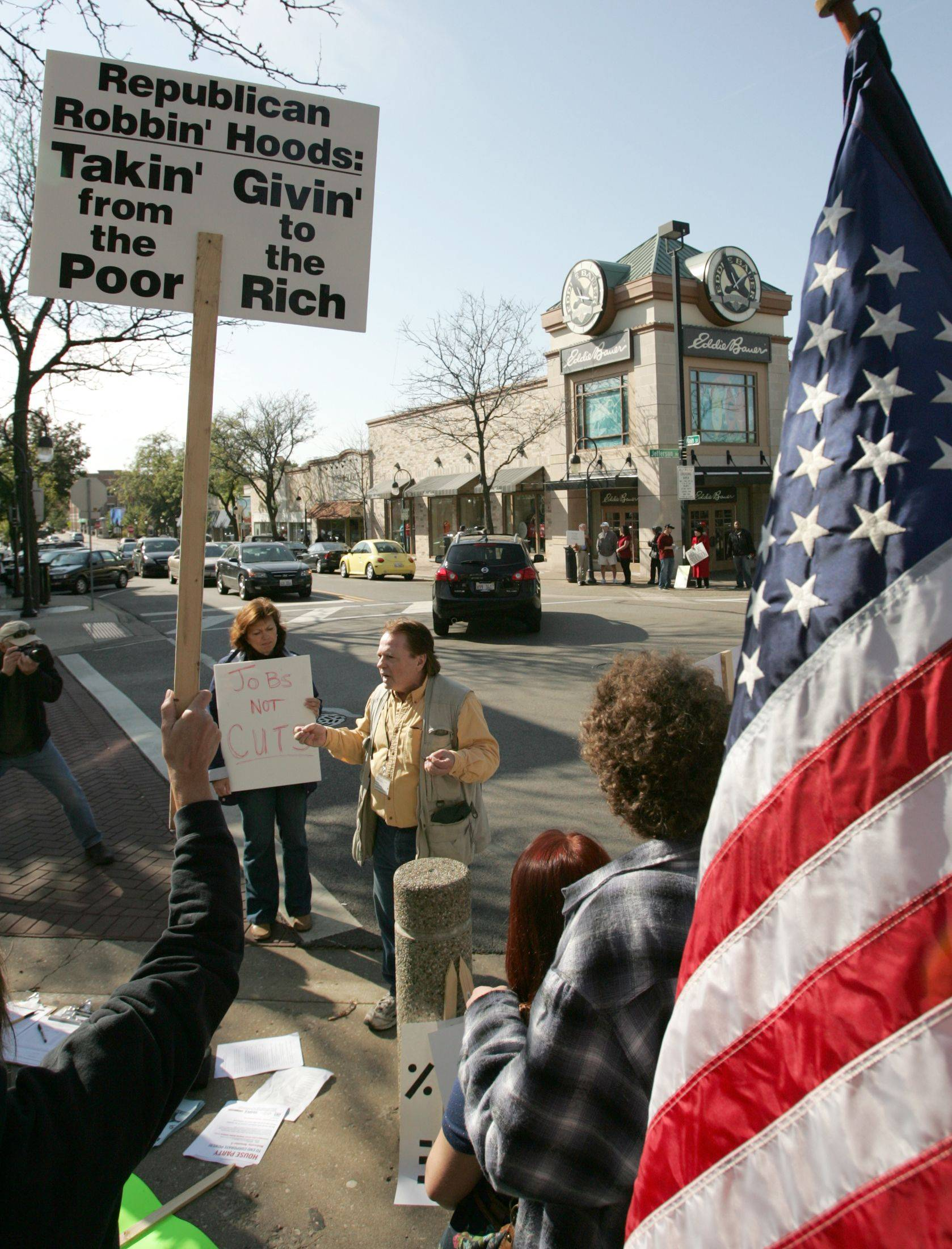 50 protesters 'Occupy' Naperville