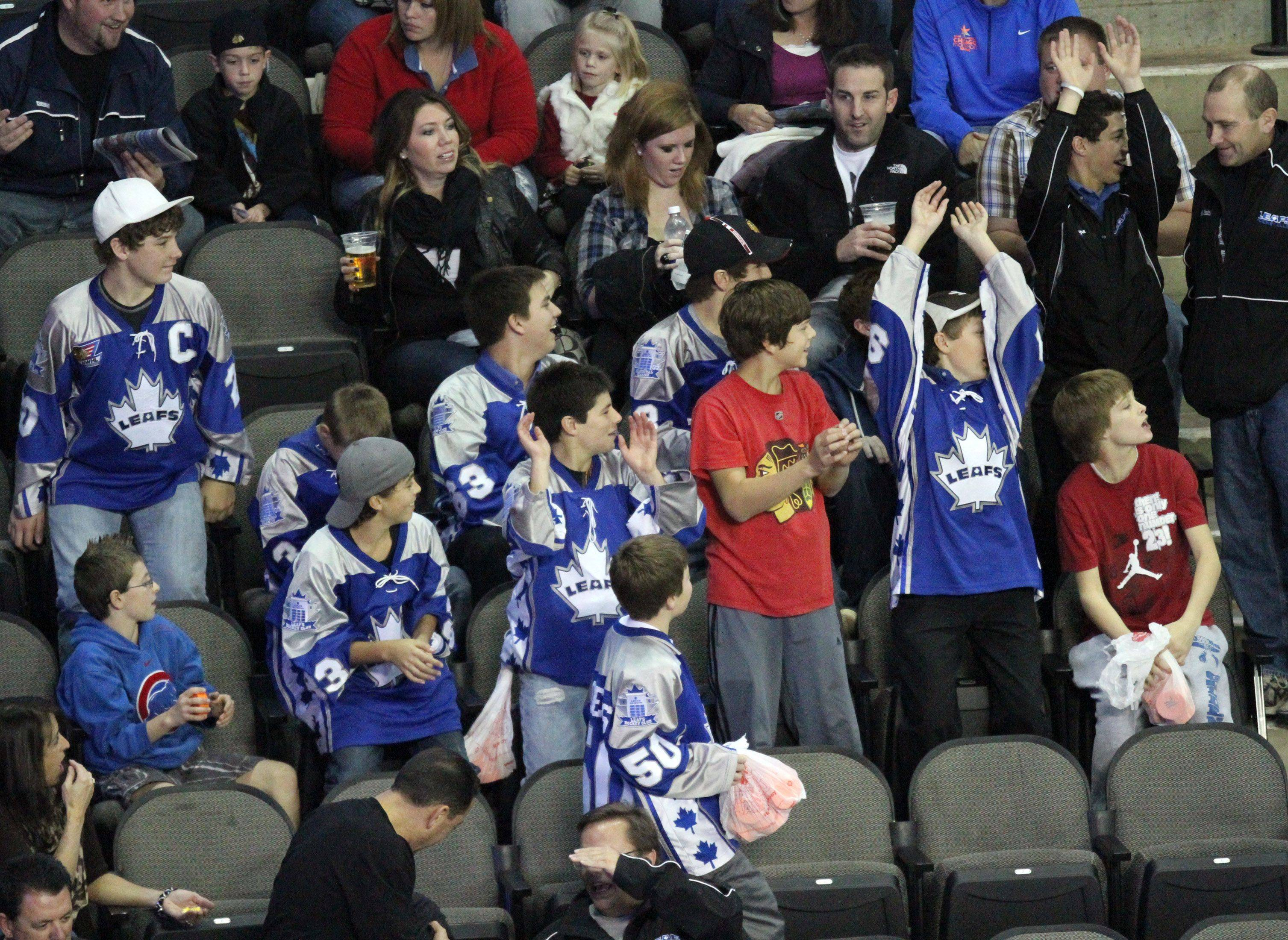 Fans at Chicago Express home opener make a wave at Sears Centre in Hoffman Estates on Saturday, October 22nd.