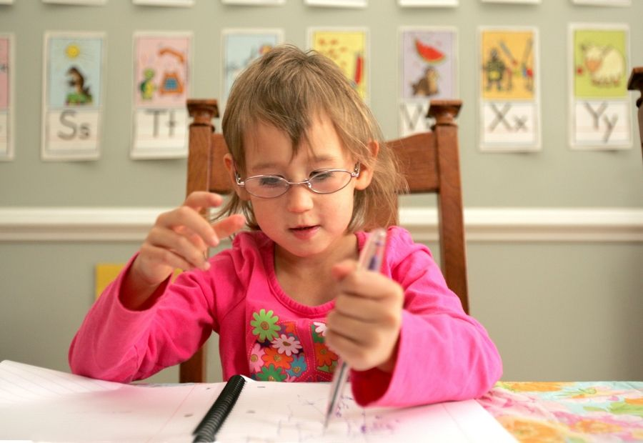 Sasha loves to draw. She also receives art therapy to help improve communication between the right and left sides of her brain.
