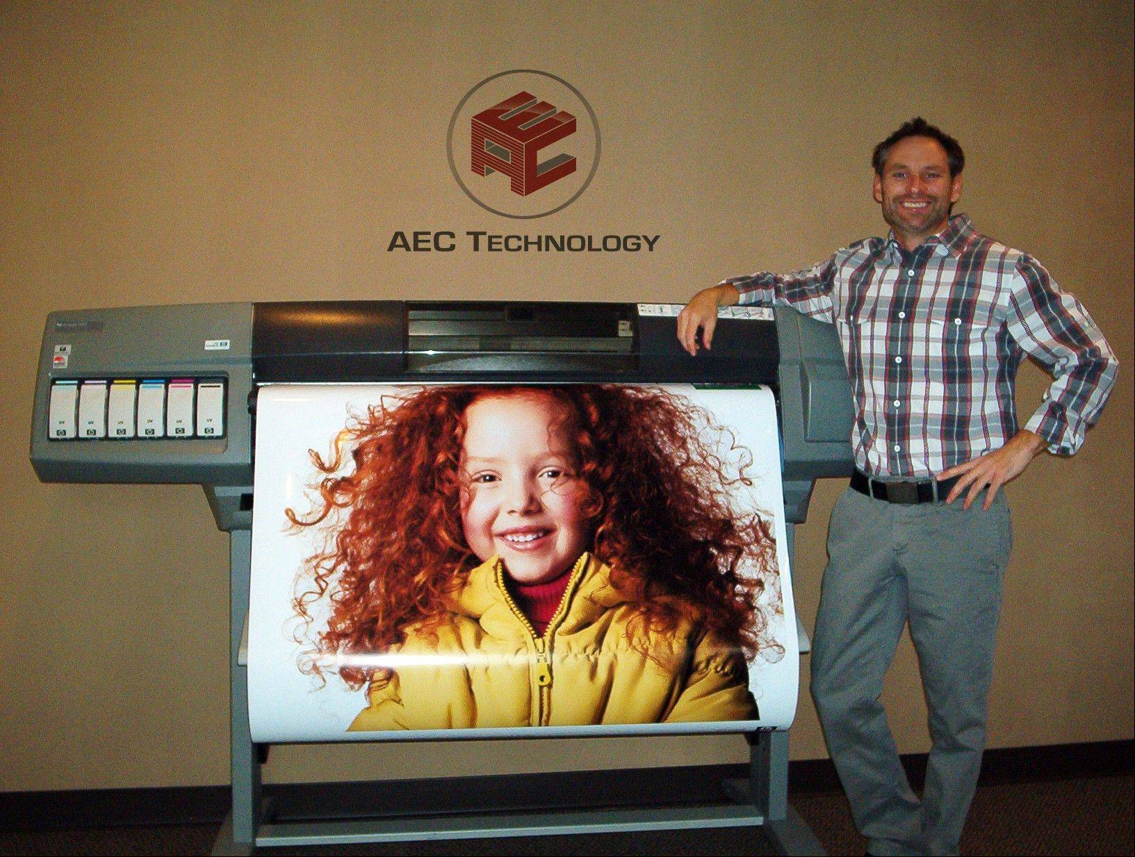 Jerry Rushing, owner of AEC Technology, supports local architects, engineers and contractors by providing cost effective large format document solutions.