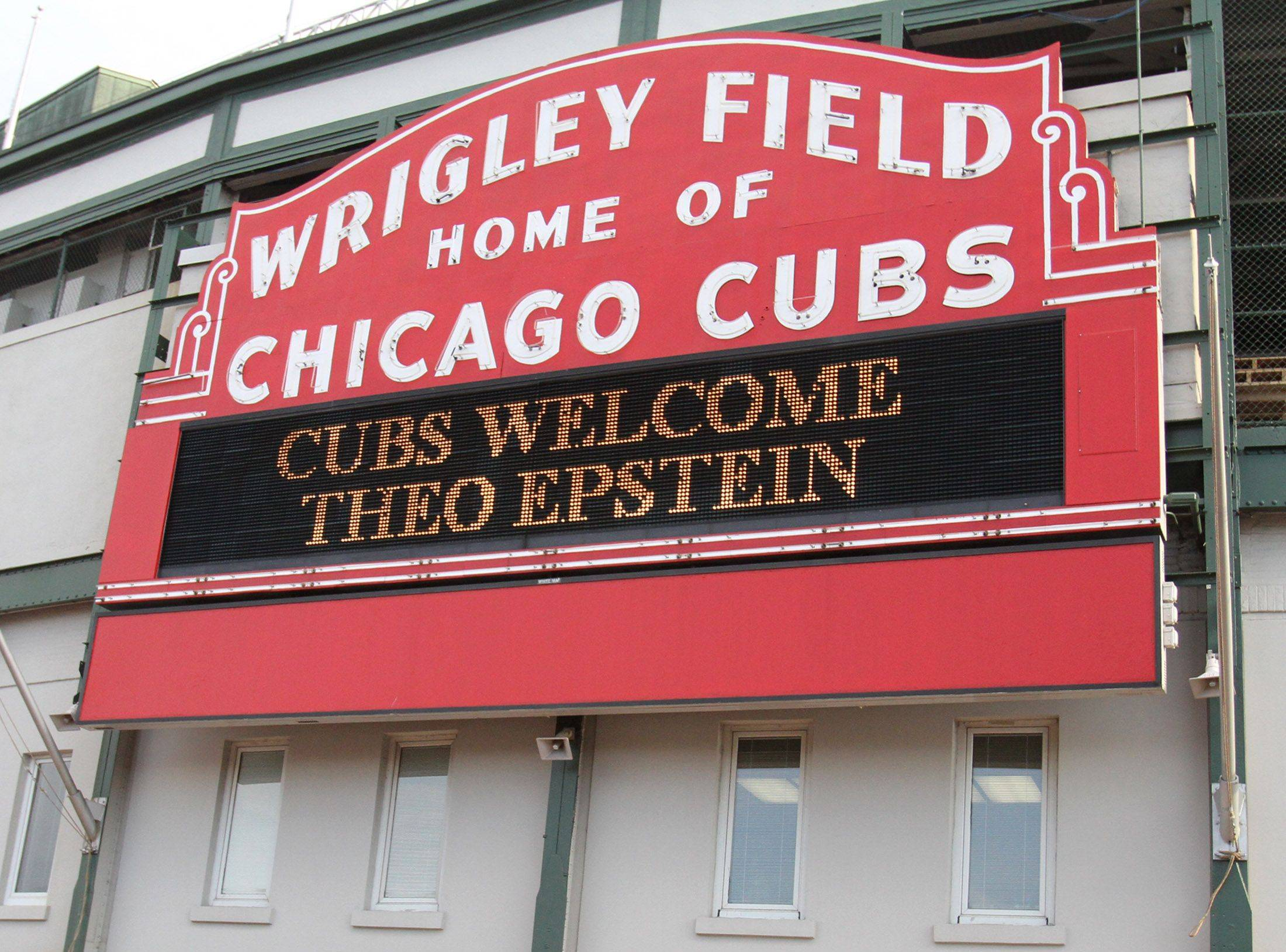 Wrigley Field on Tuesday welcomed the Cubs' new president of baseball operations.
