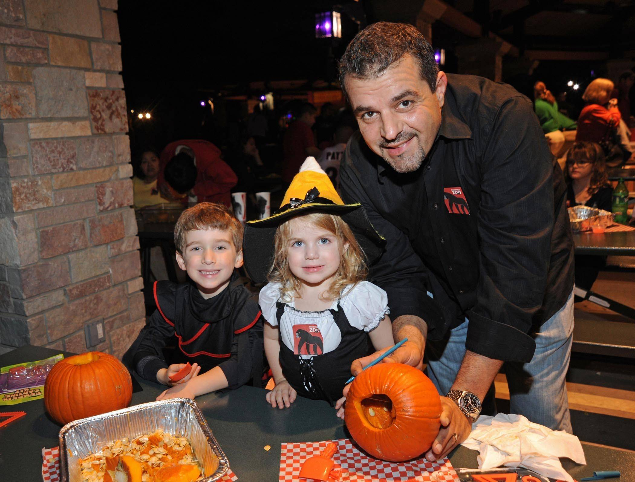 Pumpkin carving is among the less-scary options available at Brookfield Zoo's Creatures of the Night.