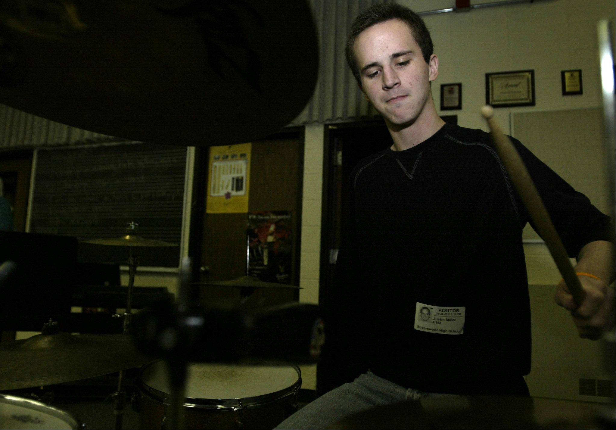Justin Miller has been playing drums since he learned to walk. He lost his dominant arm to a rare cancer, epithelioid sarcoma, but has taught himself to play with one arm.