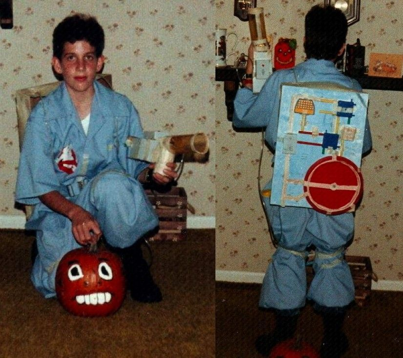 "For Halloween in 1987, my brother, Patrick, made his own ""Ghostbusters"" costume and proton pack."